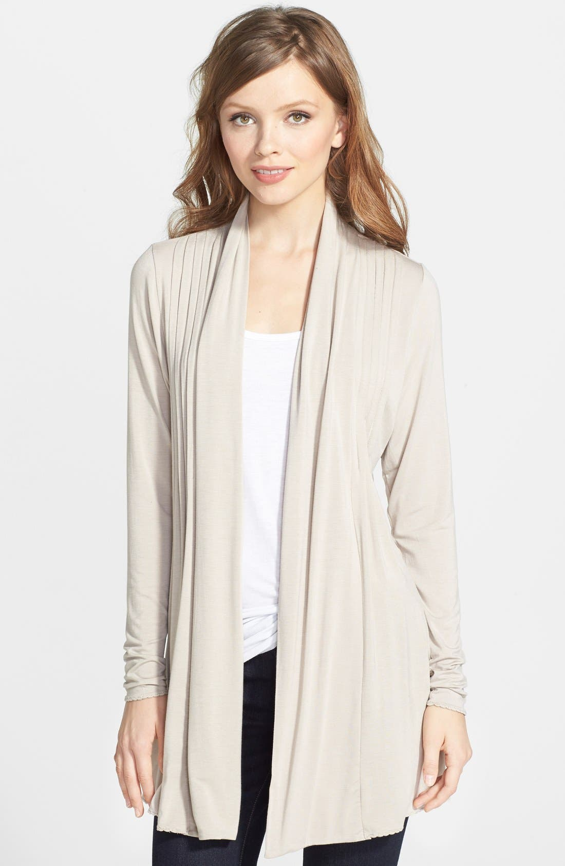 Open Pleat Front Cardigan,                         Main,                         color, 431