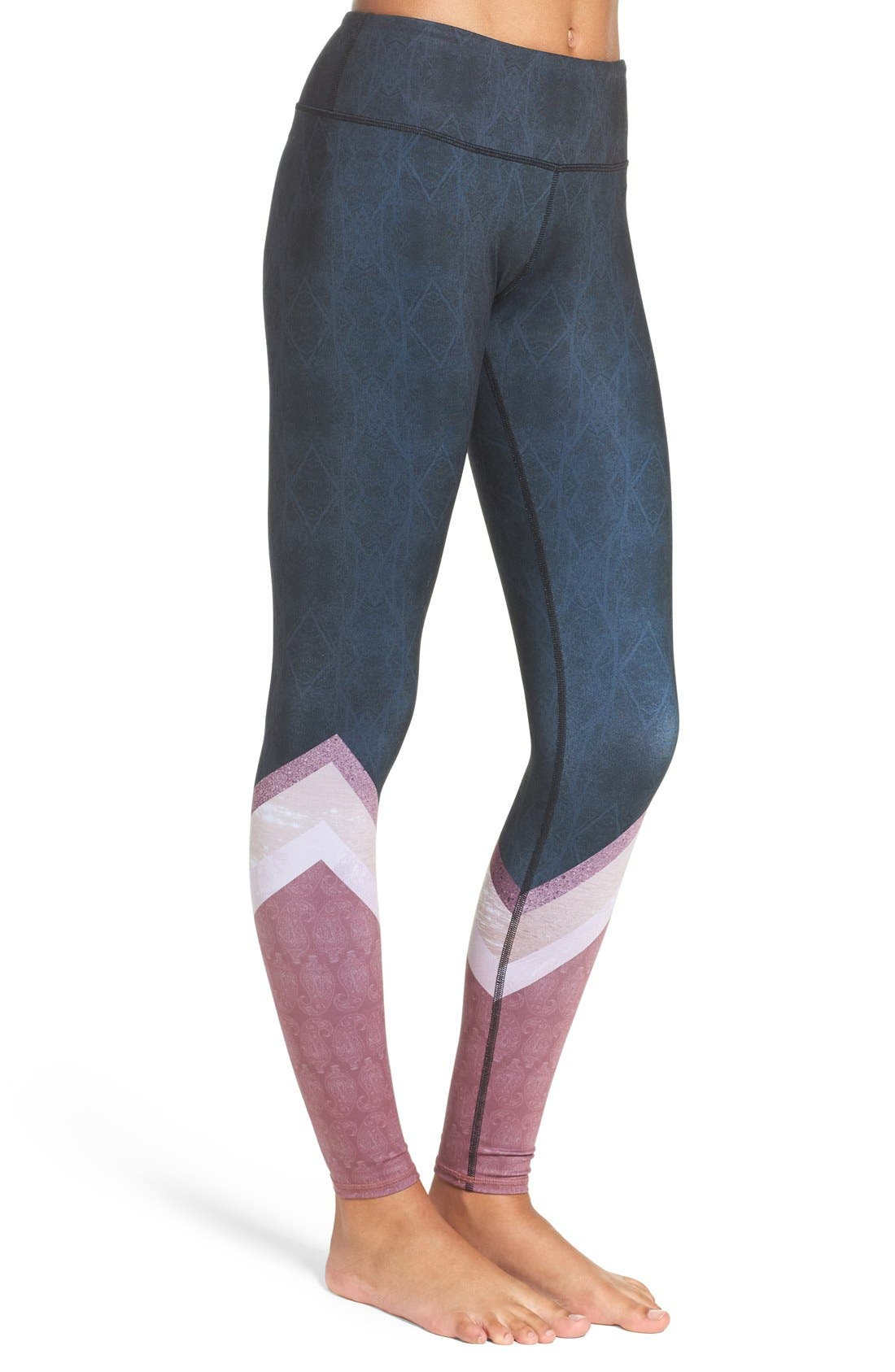 'Airbrushed' Leggings,                             Alternate thumbnail 105, color,