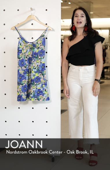 Heavy Petal Knot Front Mini Dress, sales video thumbnail