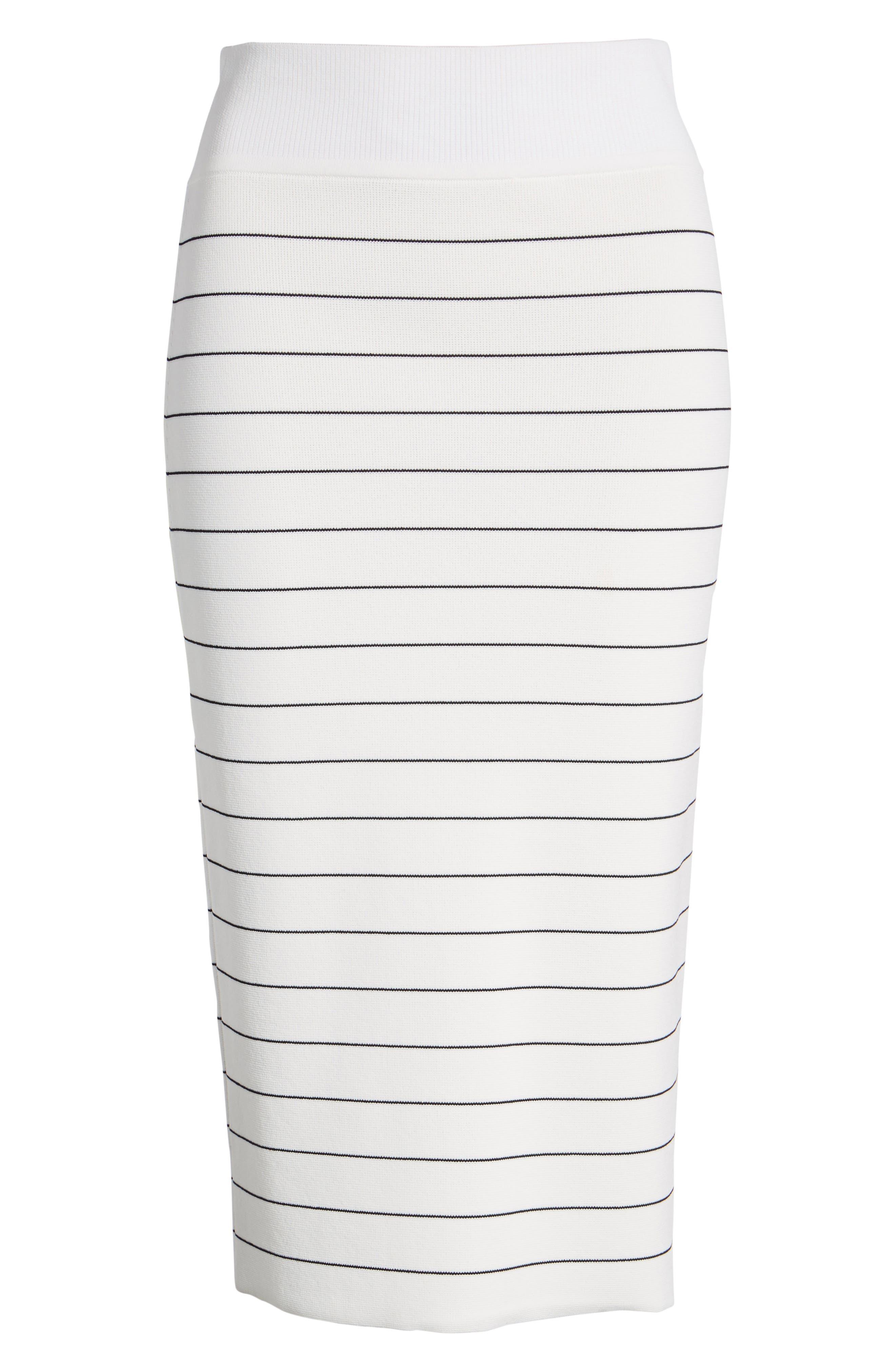 Fairuza Stripe Knit Pencil Skirt,                             Alternate thumbnail 6, color,                             170