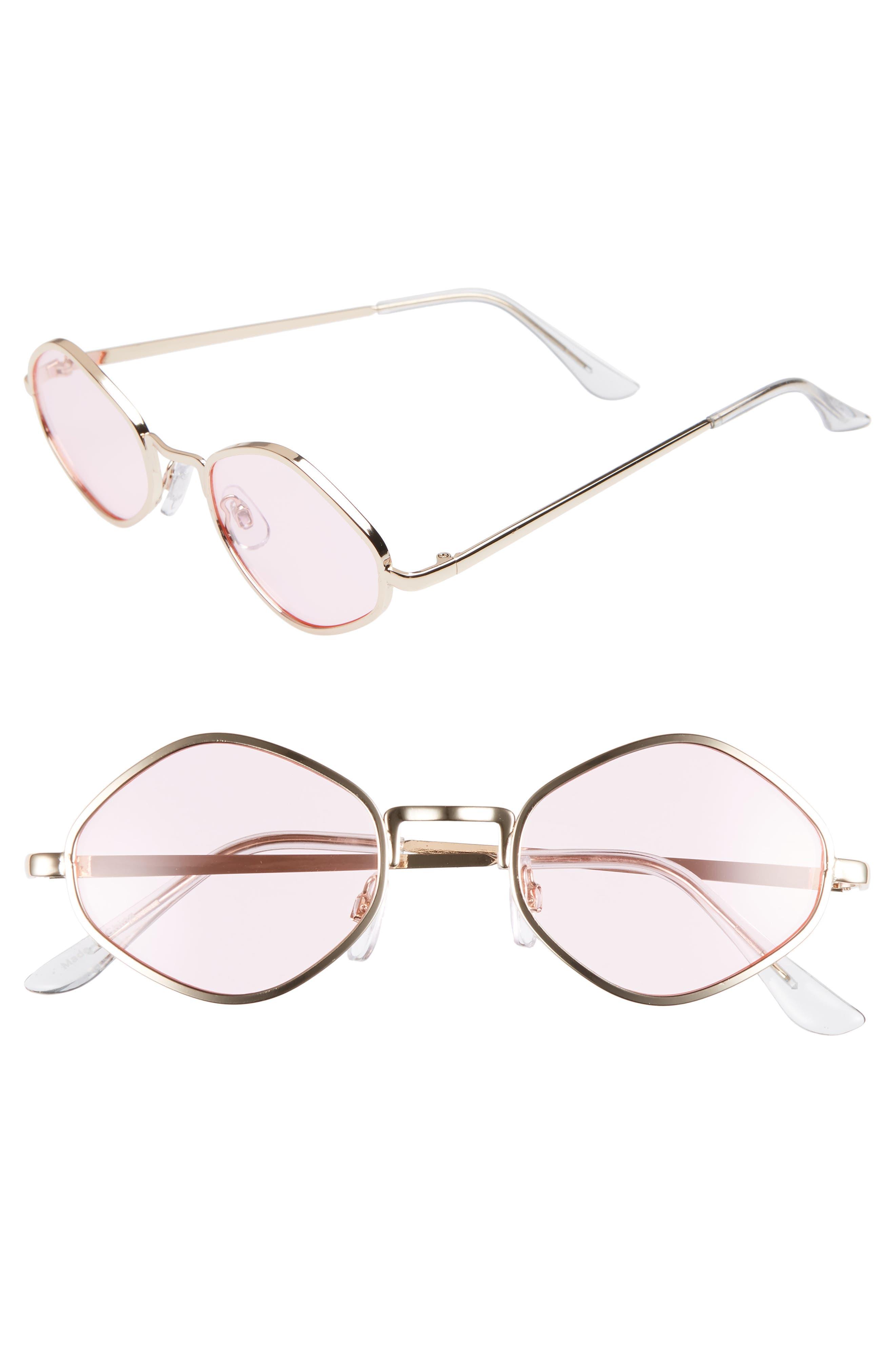 2db190a5775216 Bp. 4m Small Geo Sunglasses - Gold Pink