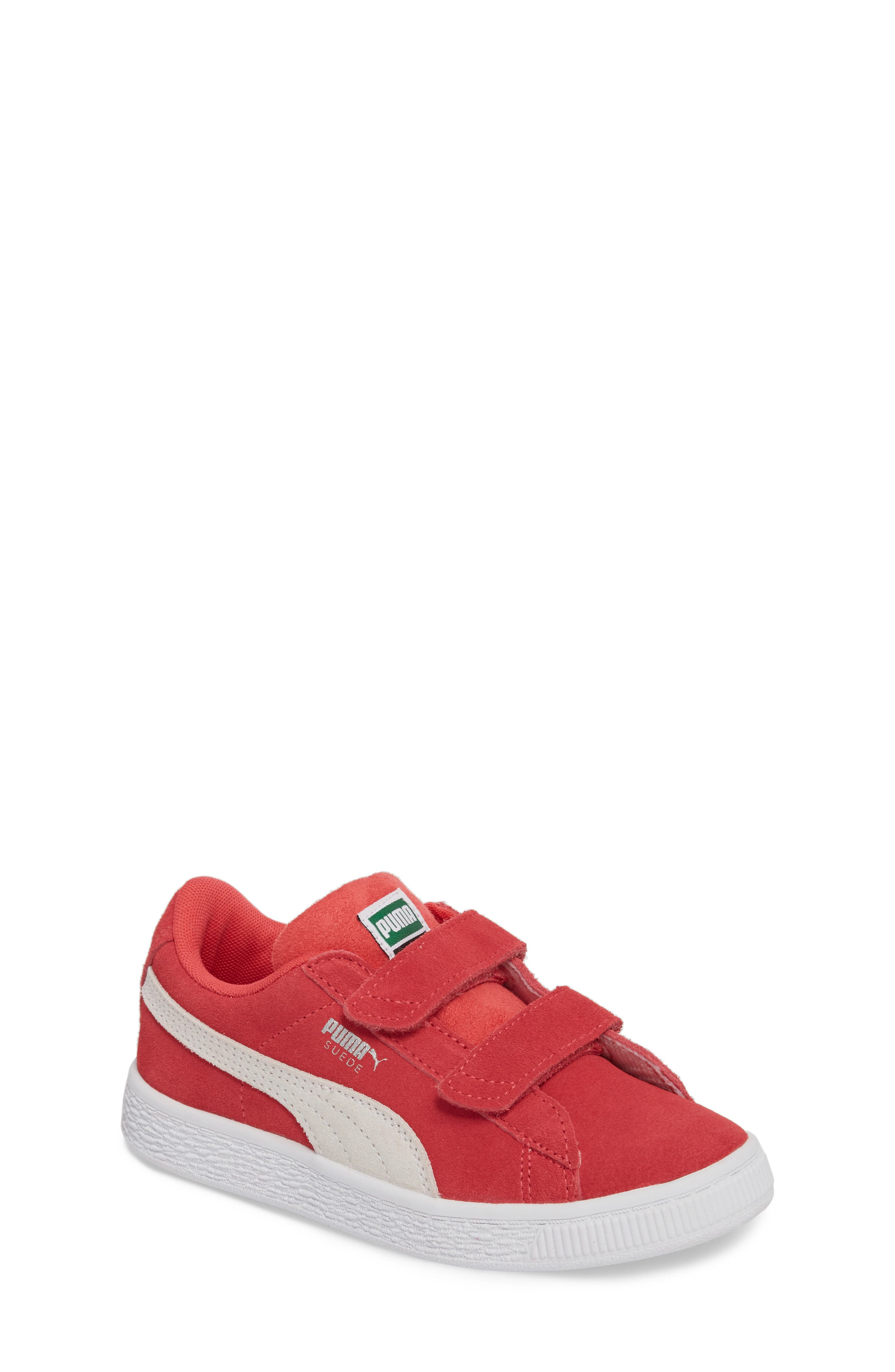 Suede Classic Sneaker,                             Main thumbnail 1, color,                             PARADISE PINK/ PUMA WHITE