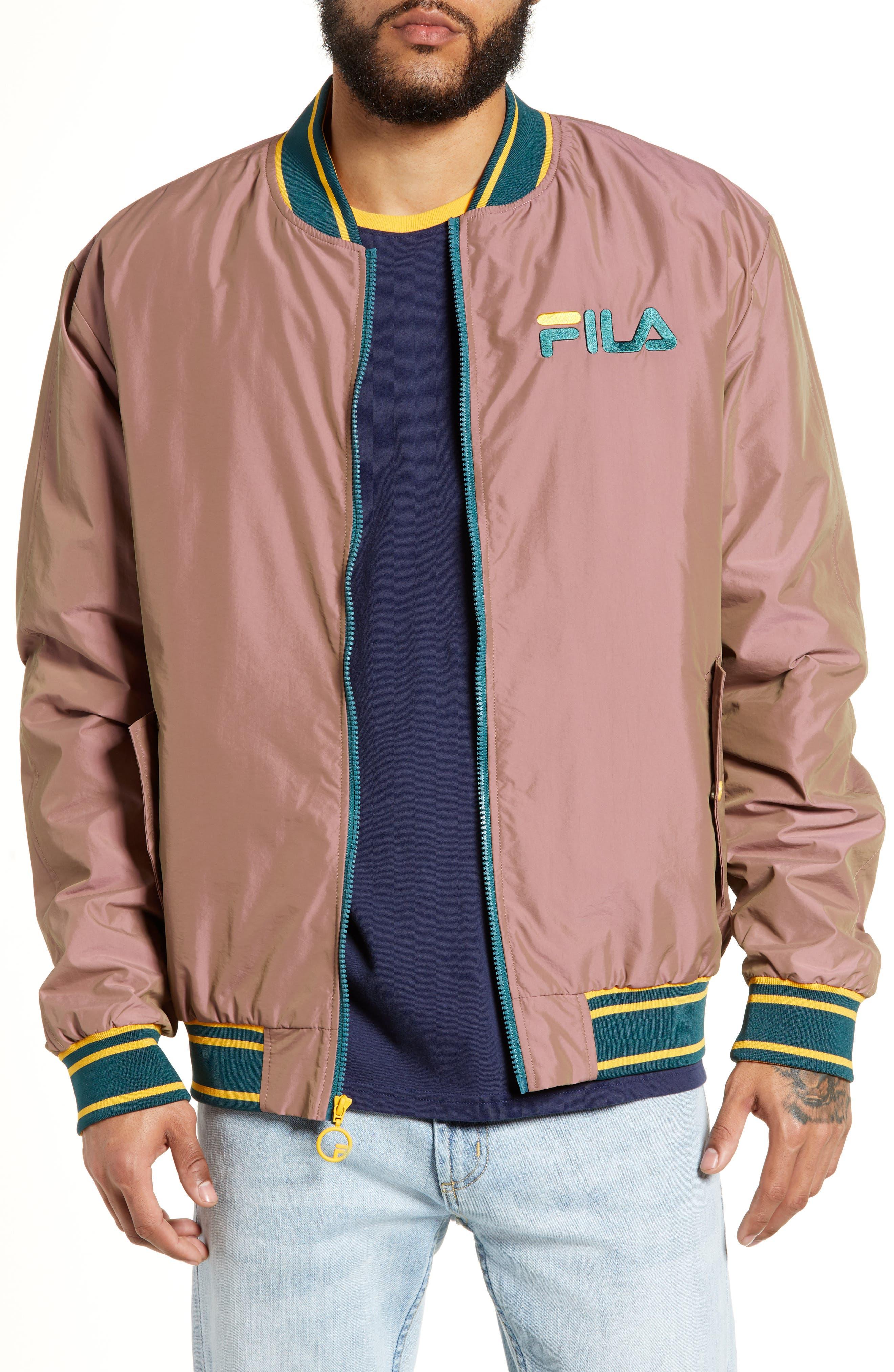 Skyler Bomber Jacket, Main, color, PINK SHADOW/ ATLANTIC DEEP/