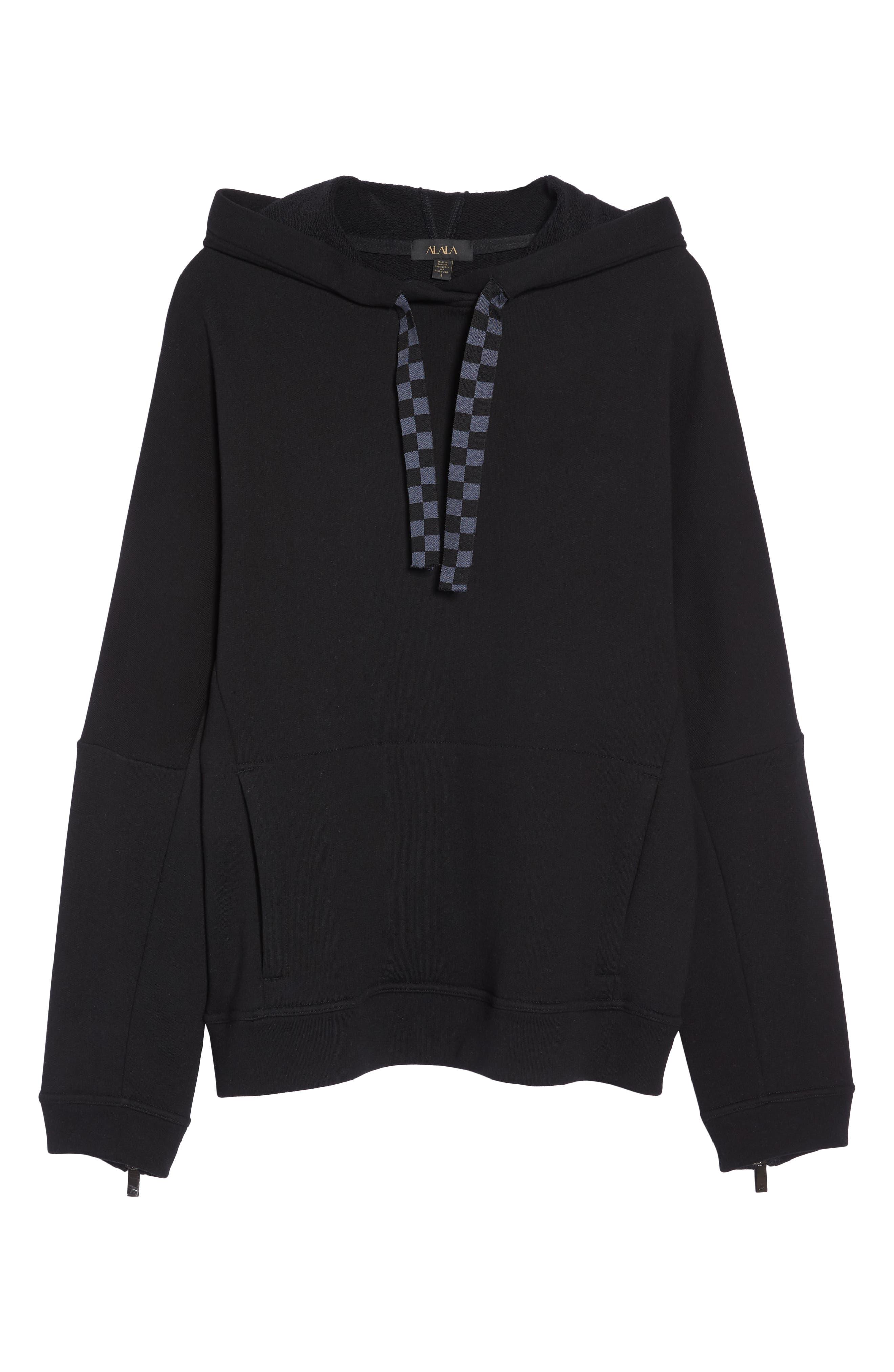 Shift Hoodie Sweatshirt,                             Alternate thumbnail 7, color,                             BLACK/ CHECKER