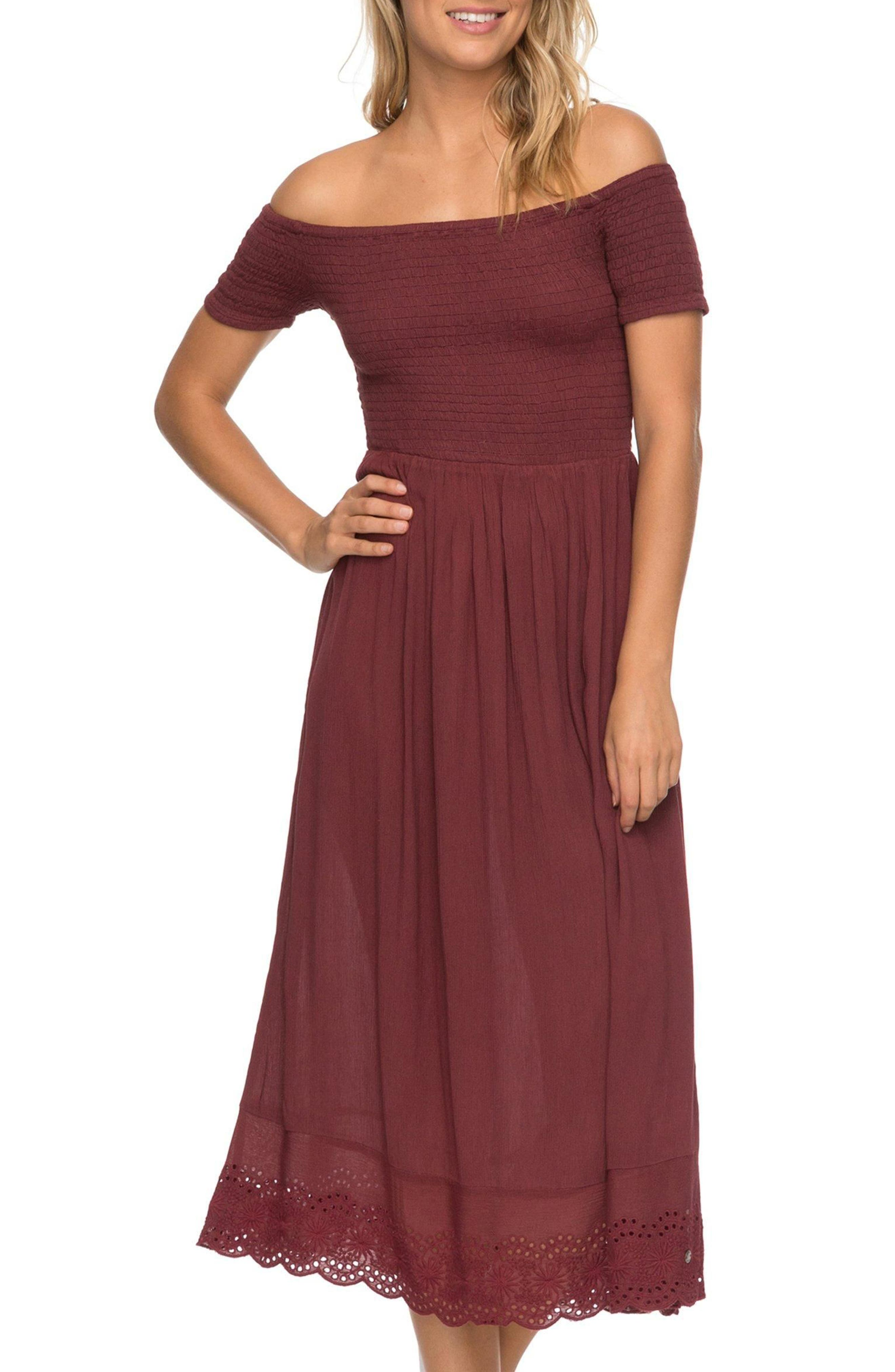 Pretty Lovers Off the Shoulder Midi Dress,                             Alternate thumbnail 9, color,