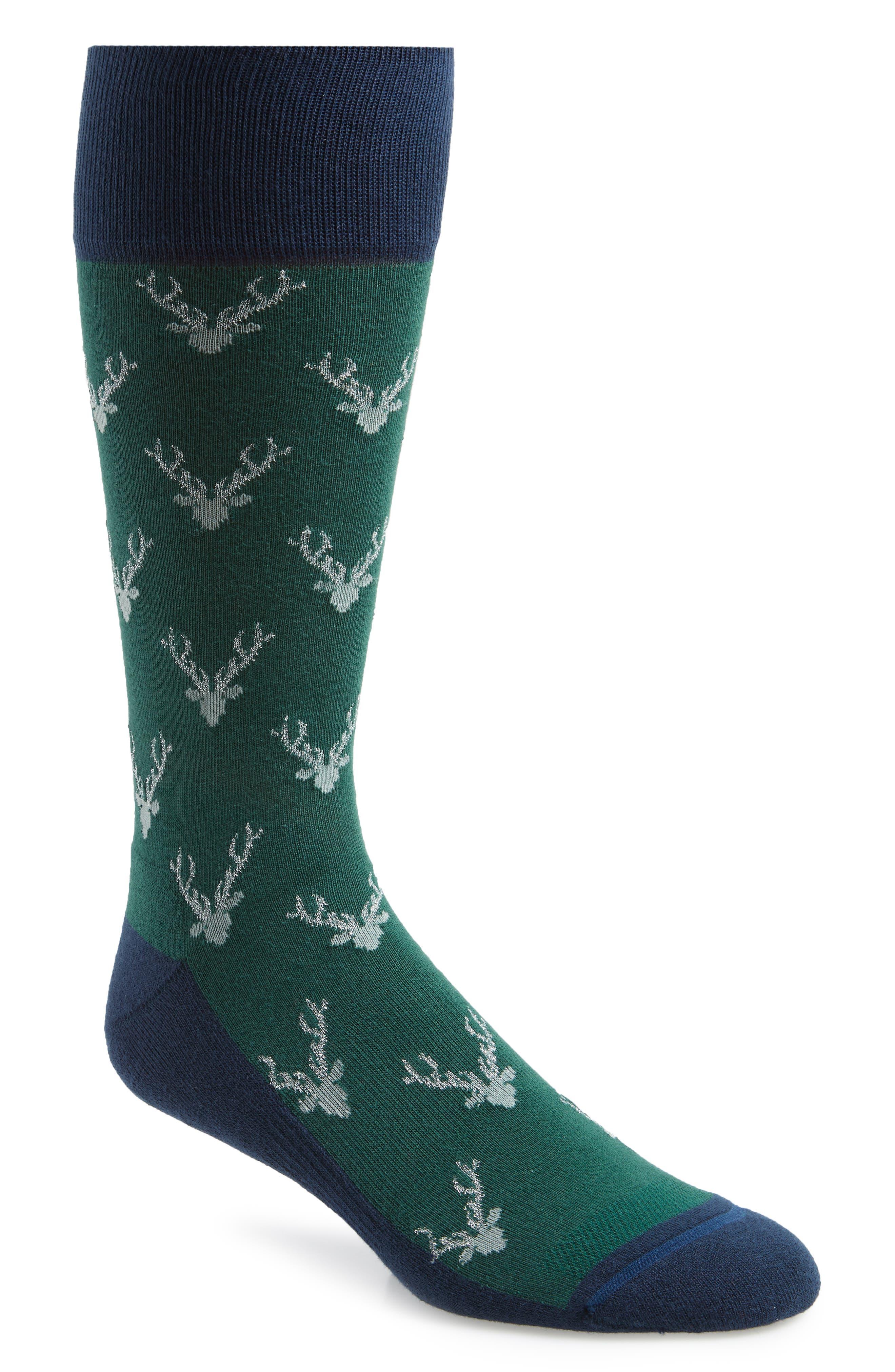 Holiday Staghead Socks,                             Main thumbnail 1, color,                             410