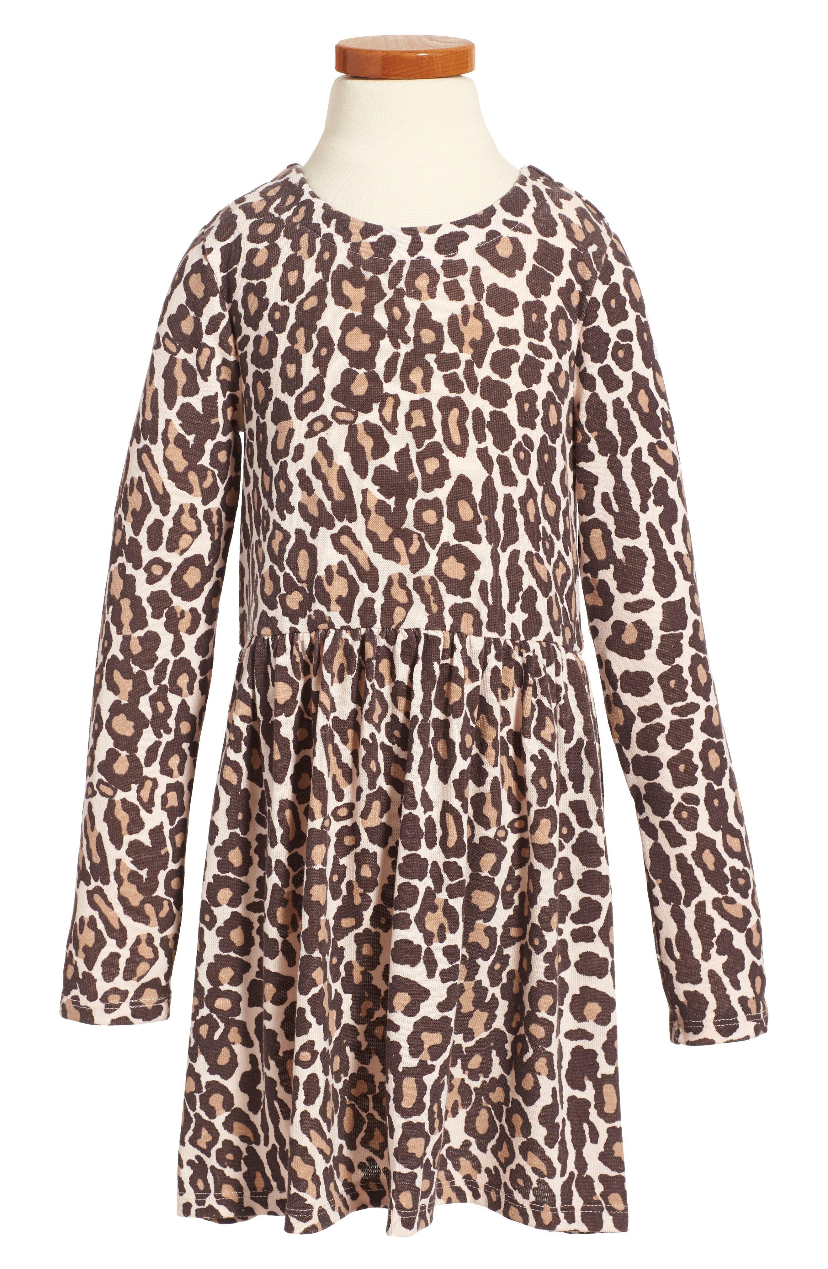 Animal Print Loose Knit Dress,                             Main thumbnail 1, color,                             255