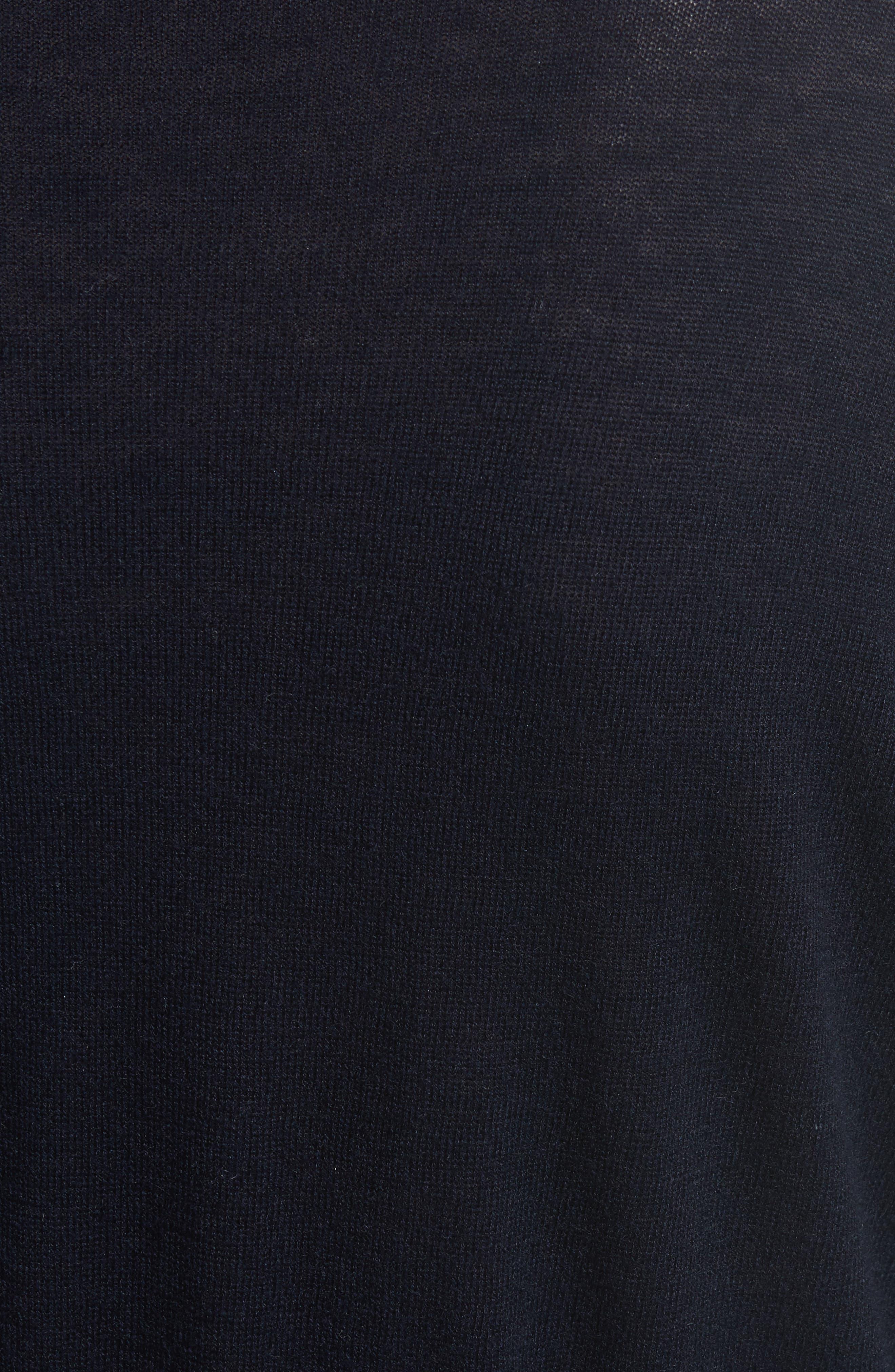 Ruffle Sleeve Silk & Cashmere Sweater,                             Alternate thumbnail 5, color,                             410