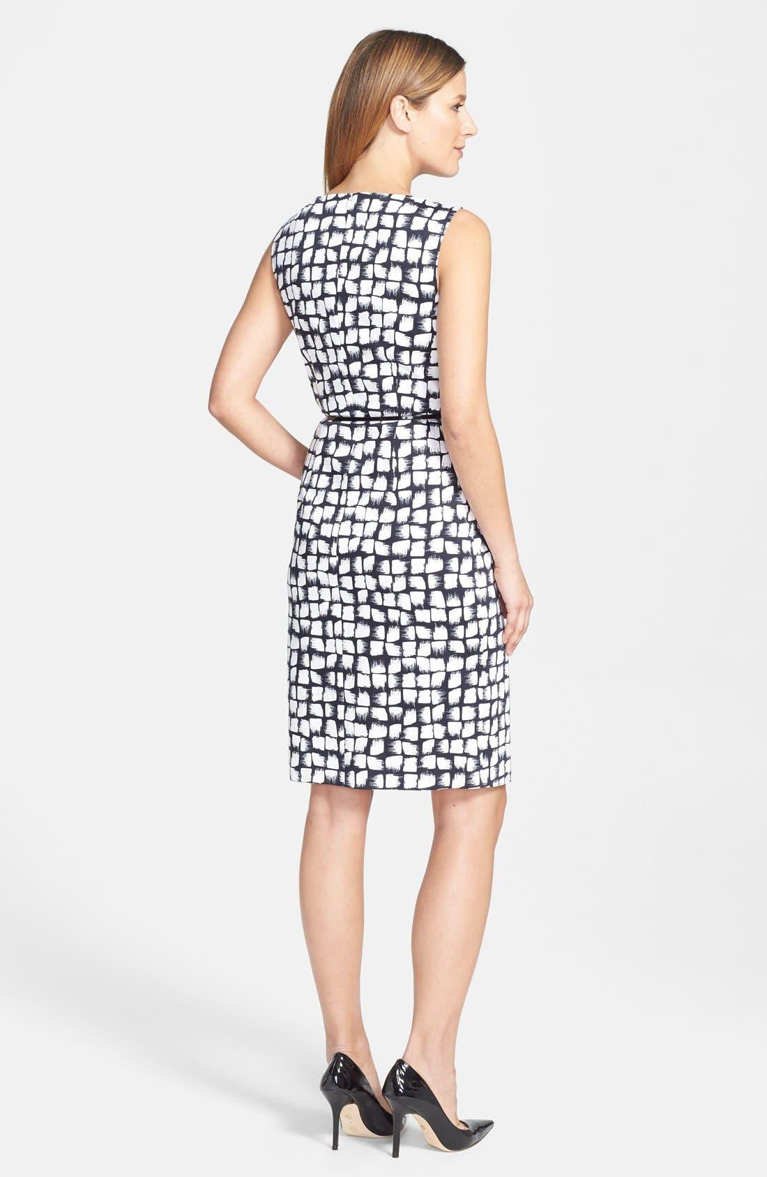 BOSS,                             'Dinoma' Belted Sheath Dress,                             Alternate thumbnail 2, color,                             477