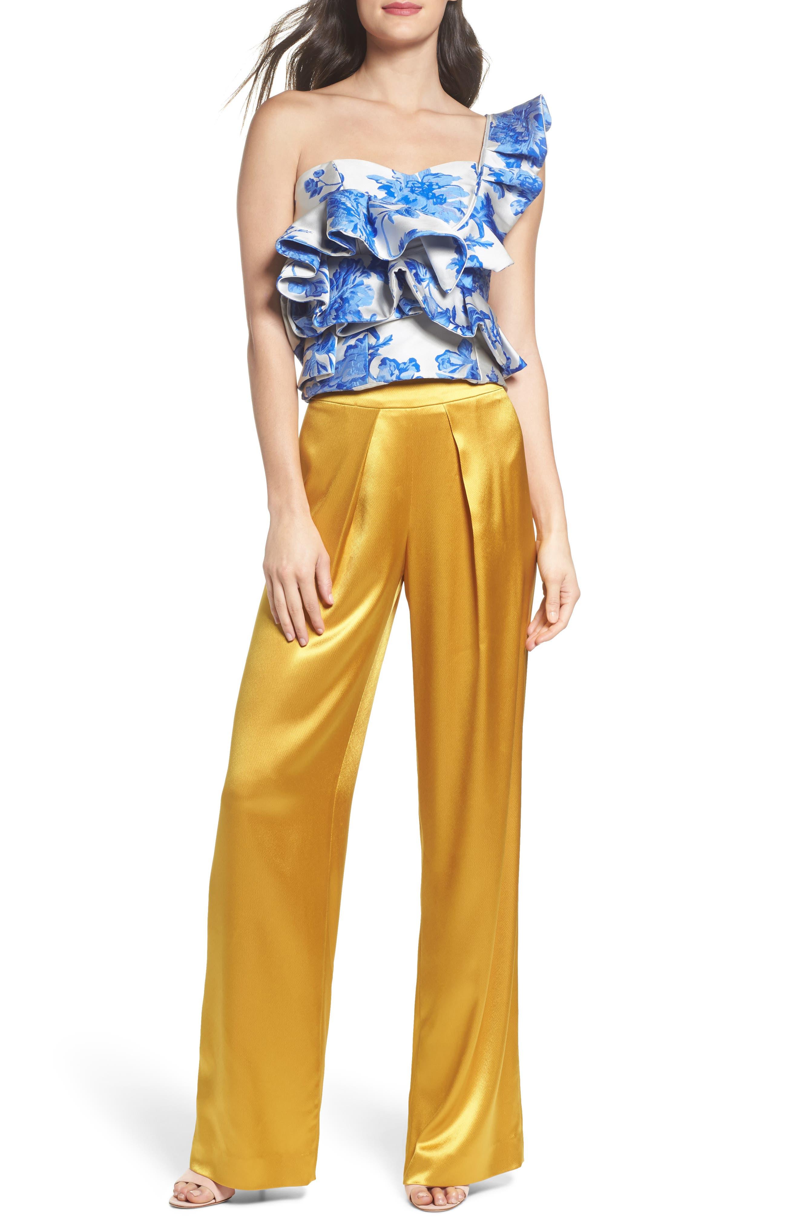 Fancy Pleated Front Satin Pants,                             Alternate thumbnail 7, color,                             700
