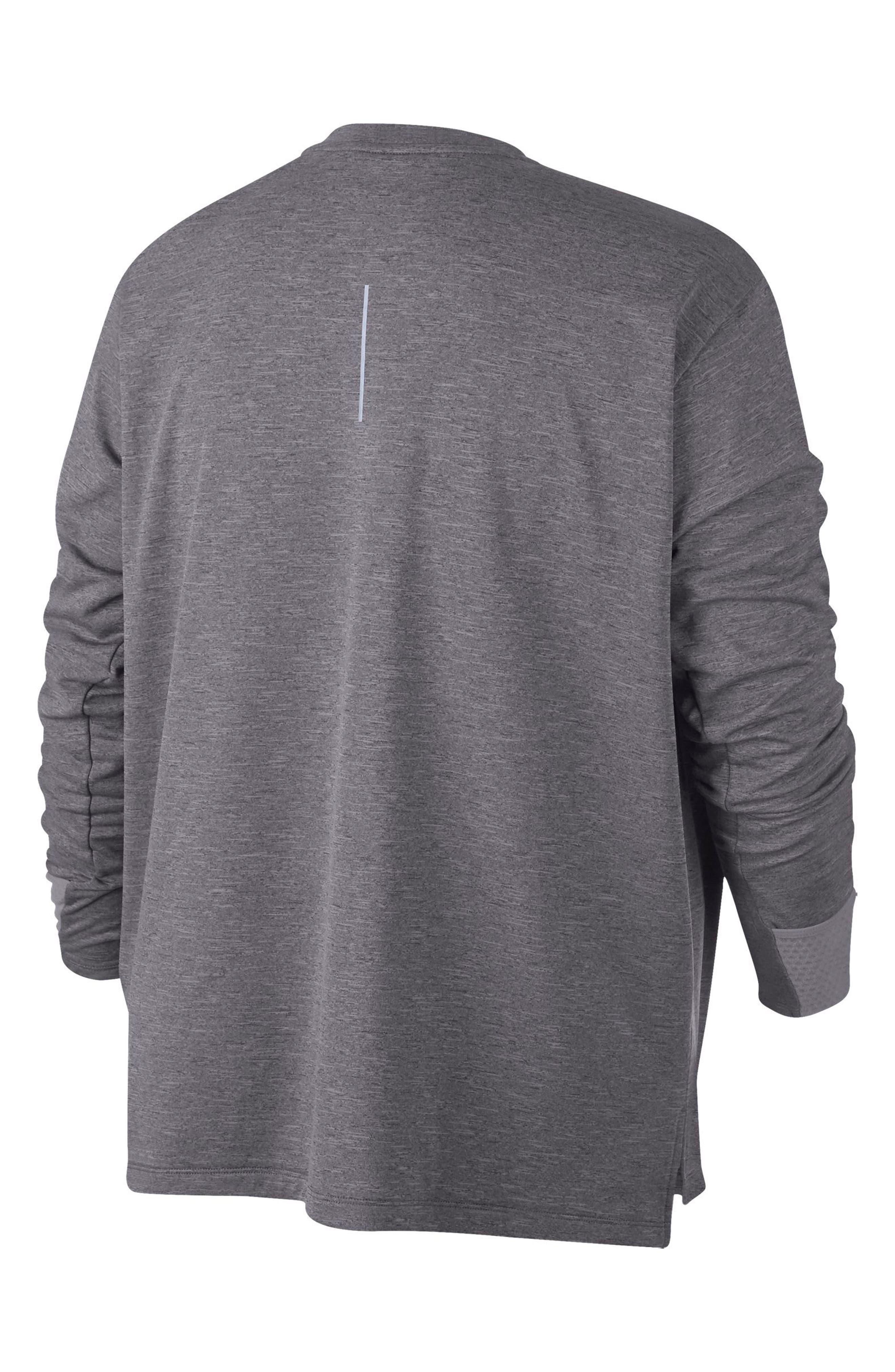 Therma Sphere Element Running Shirt,                             Alternate thumbnail 8, color,                             GUNSMOKE/ HEATHER