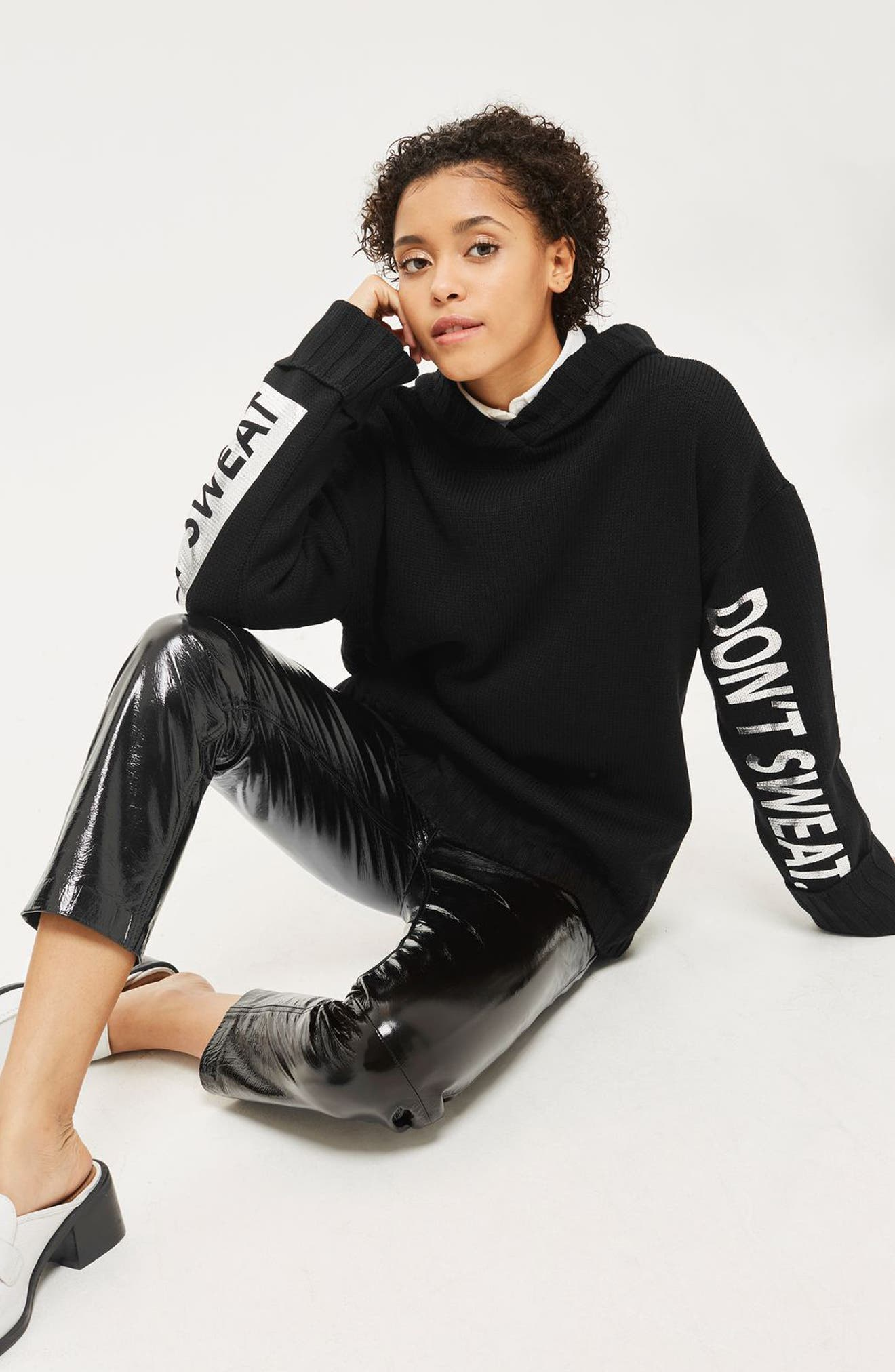 Don't Sweat Knit Hoodie,                             Alternate thumbnail 4, color,