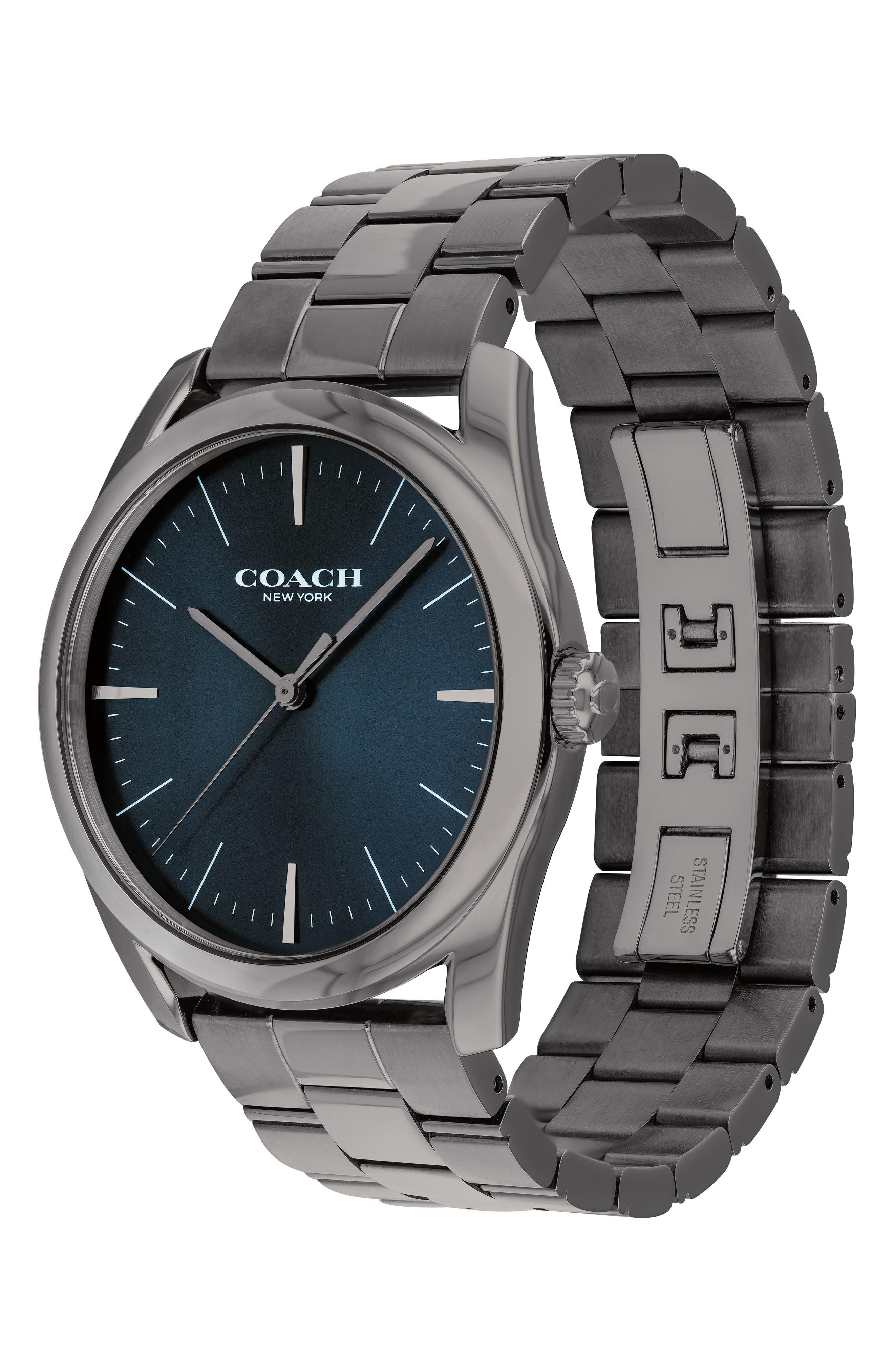 Preston Bracelet Watch, 41mm,                             Alternate thumbnail 3, color,                             GREY/ NAVY