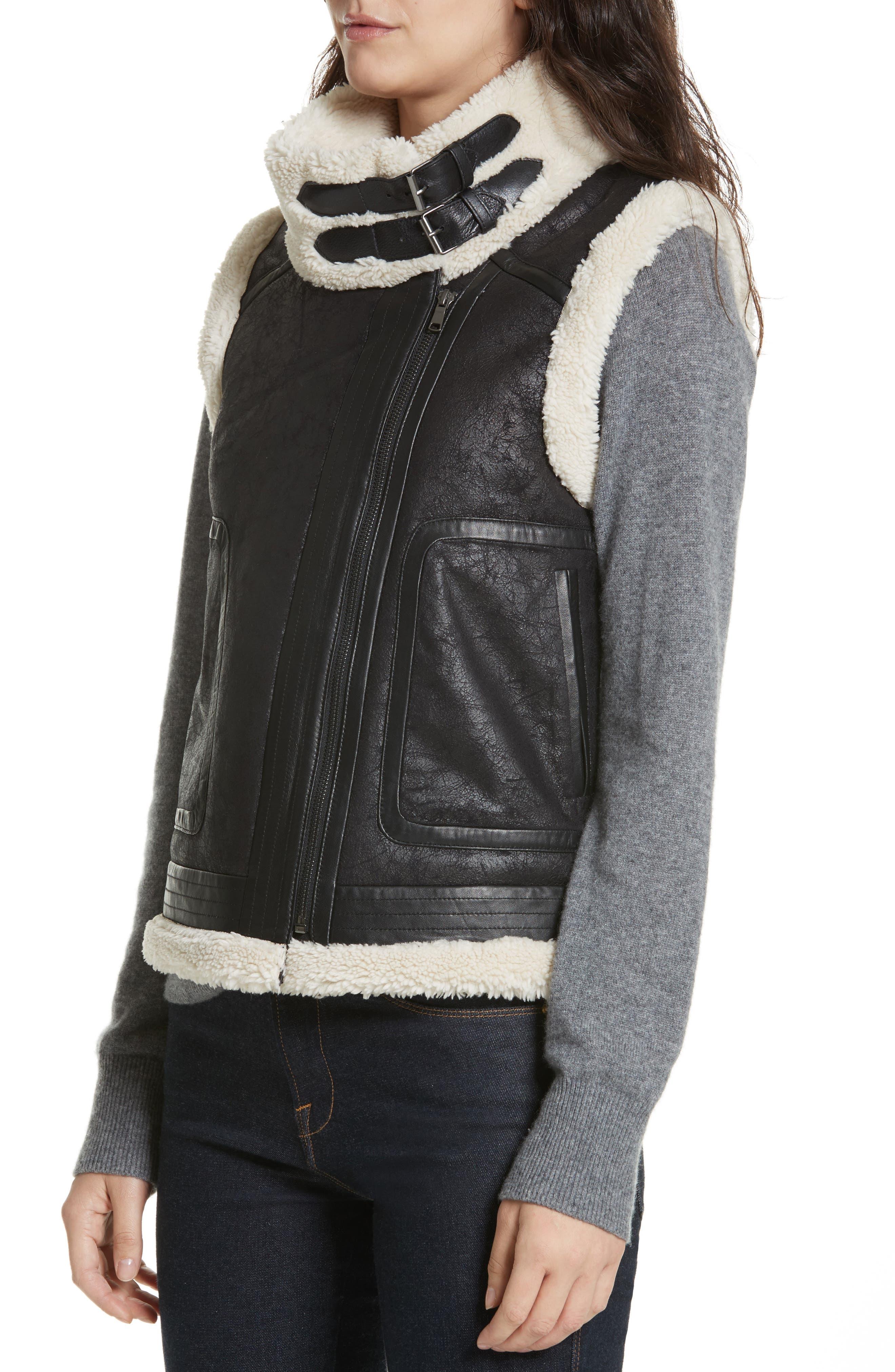 Danay Faux Shearling Vest,                             Alternate thumbnail 4, color,                             002