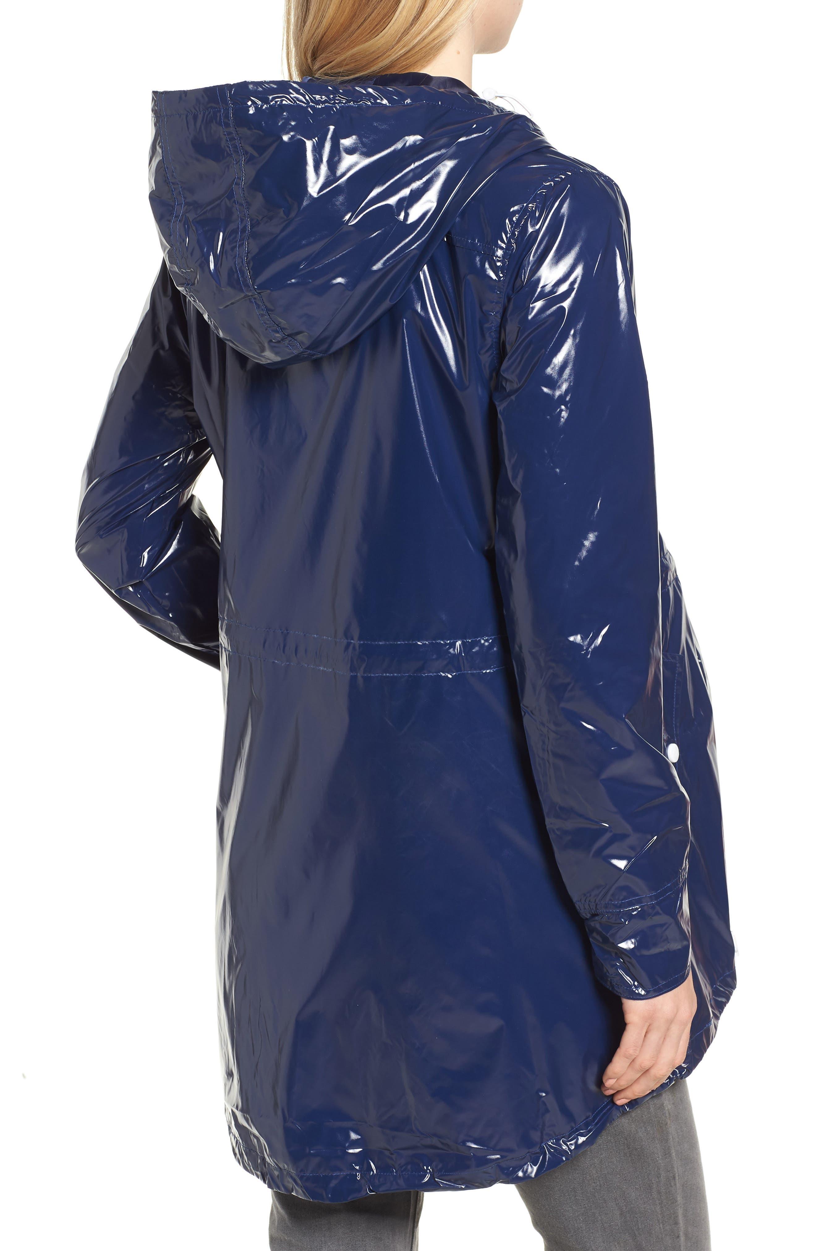 Waterproof Convertible 3-in-1 Maternity Raincoat,                             Alternate thumbnail 3, color,                             BRIGHT NAVY