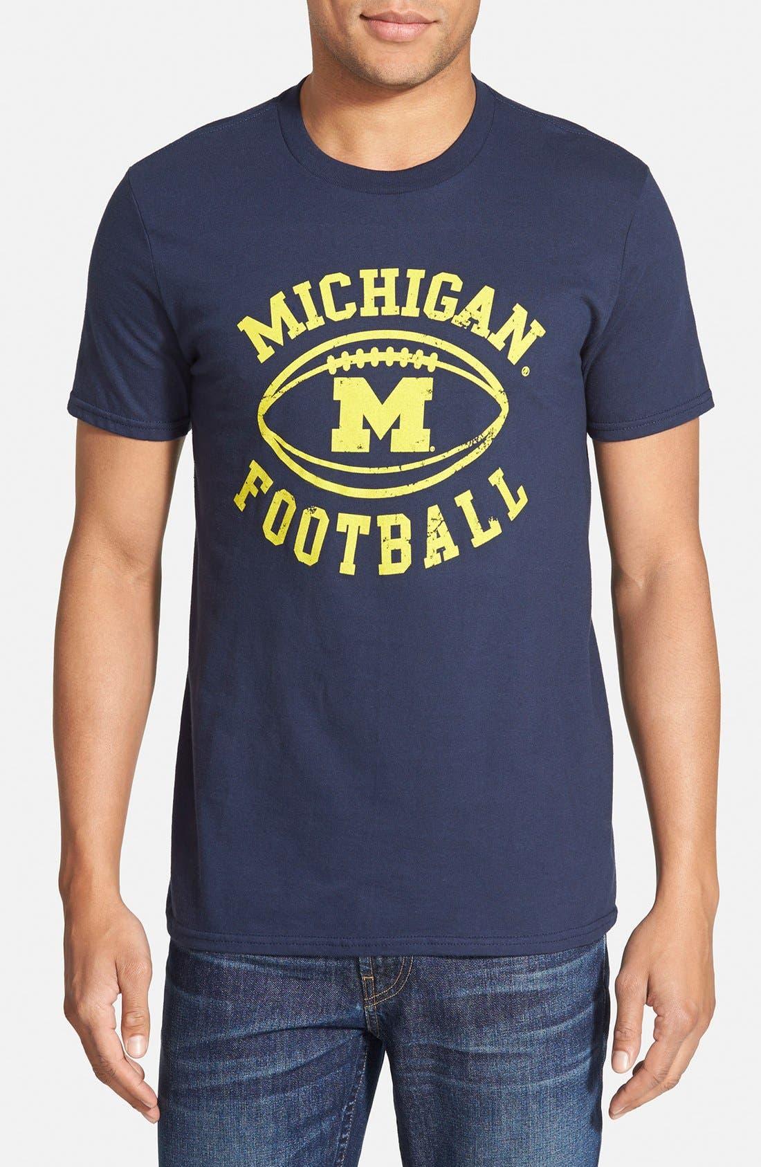 RETRO BRAND,                             'Michigan Wolverines - Tom Brady' Graphic T-Shirt,                             Main thumbnail 1, color,                             457