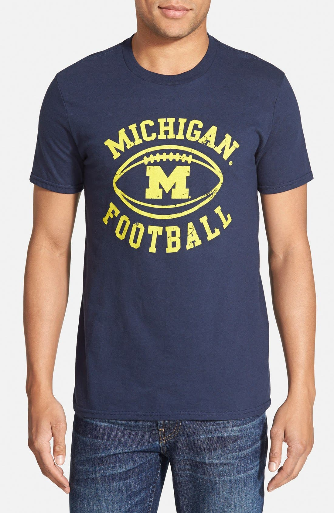 RETRO BRAND 'Michigan Wolverines - Tom Brady' Graphic T-Shirt, Main, color, 457