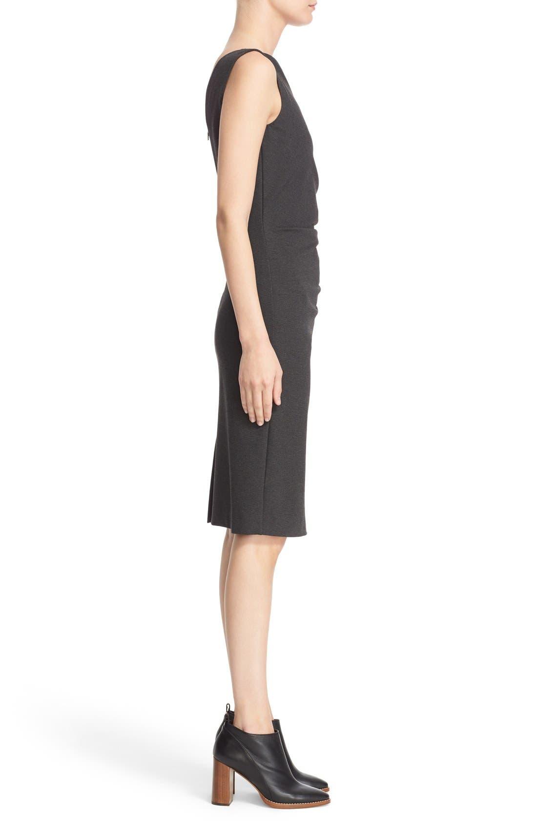'Aligi' Sleeveless Jersey Sheath Dress,                             Alternate thumbnail 3, color,                             023