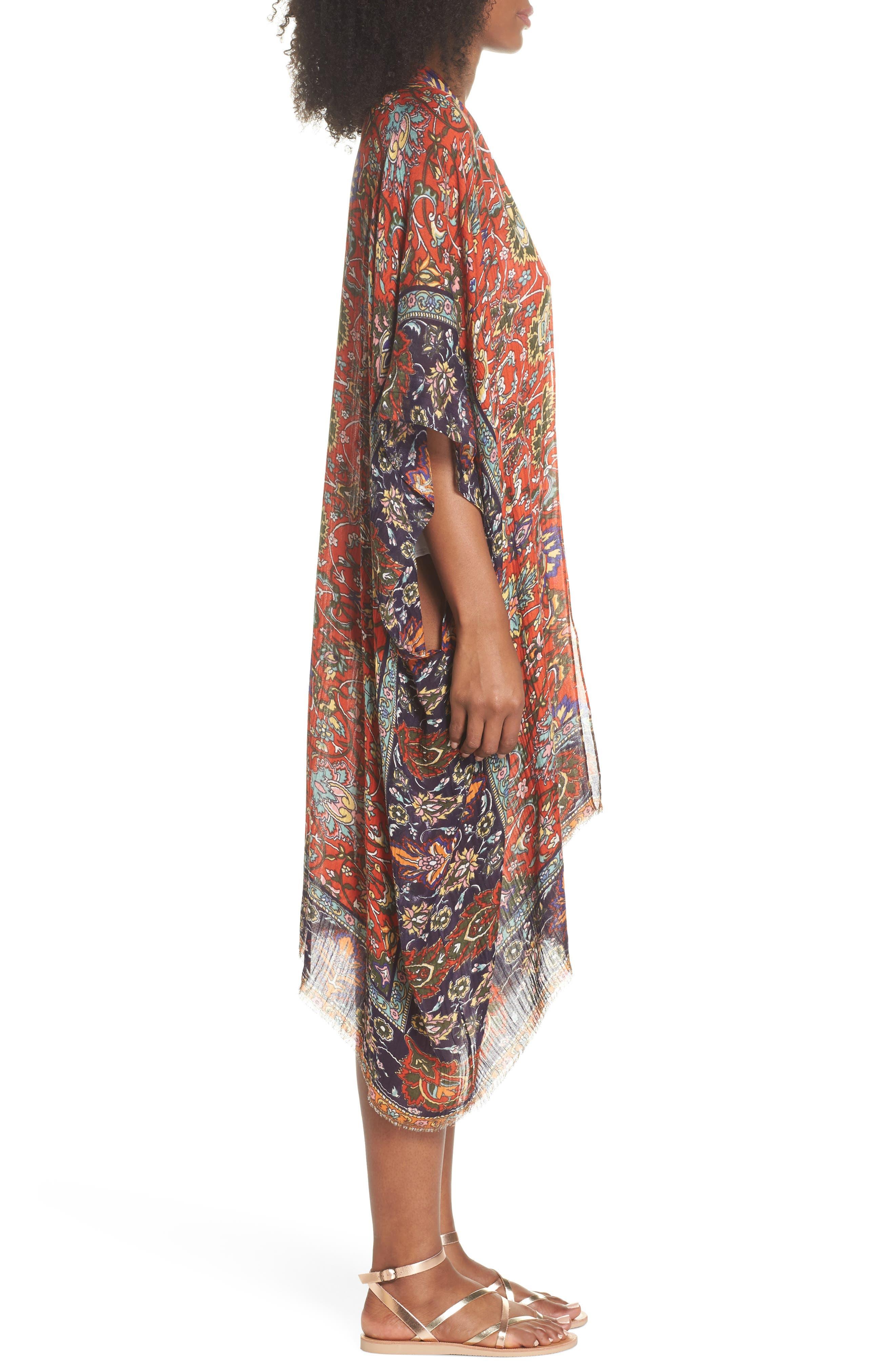 Cover-Up Kimono,                             Alternate thumbnail 3, color,