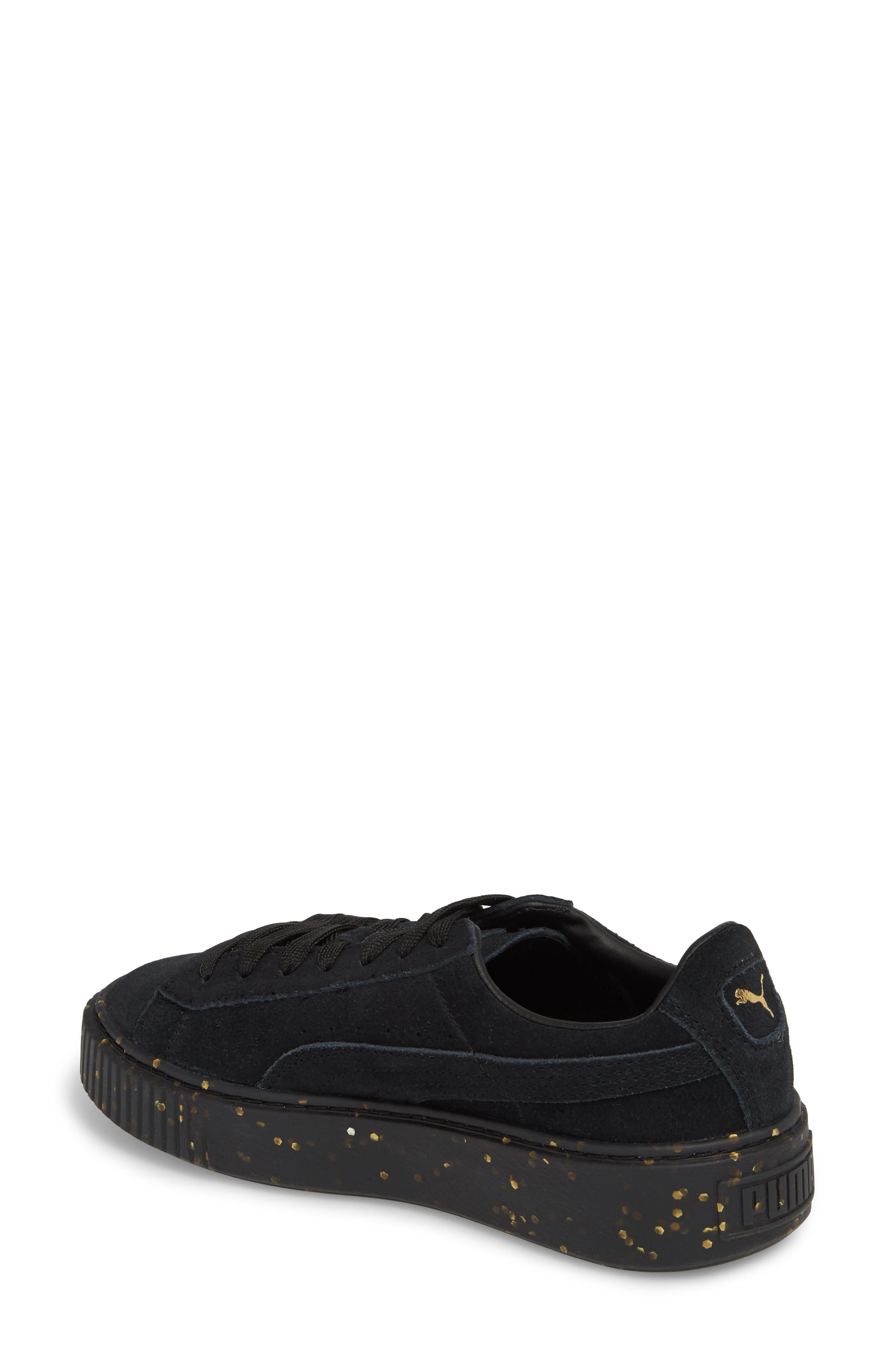 Suede Platform Sneaker,                             Alternate thumbnail 2, color,                             001