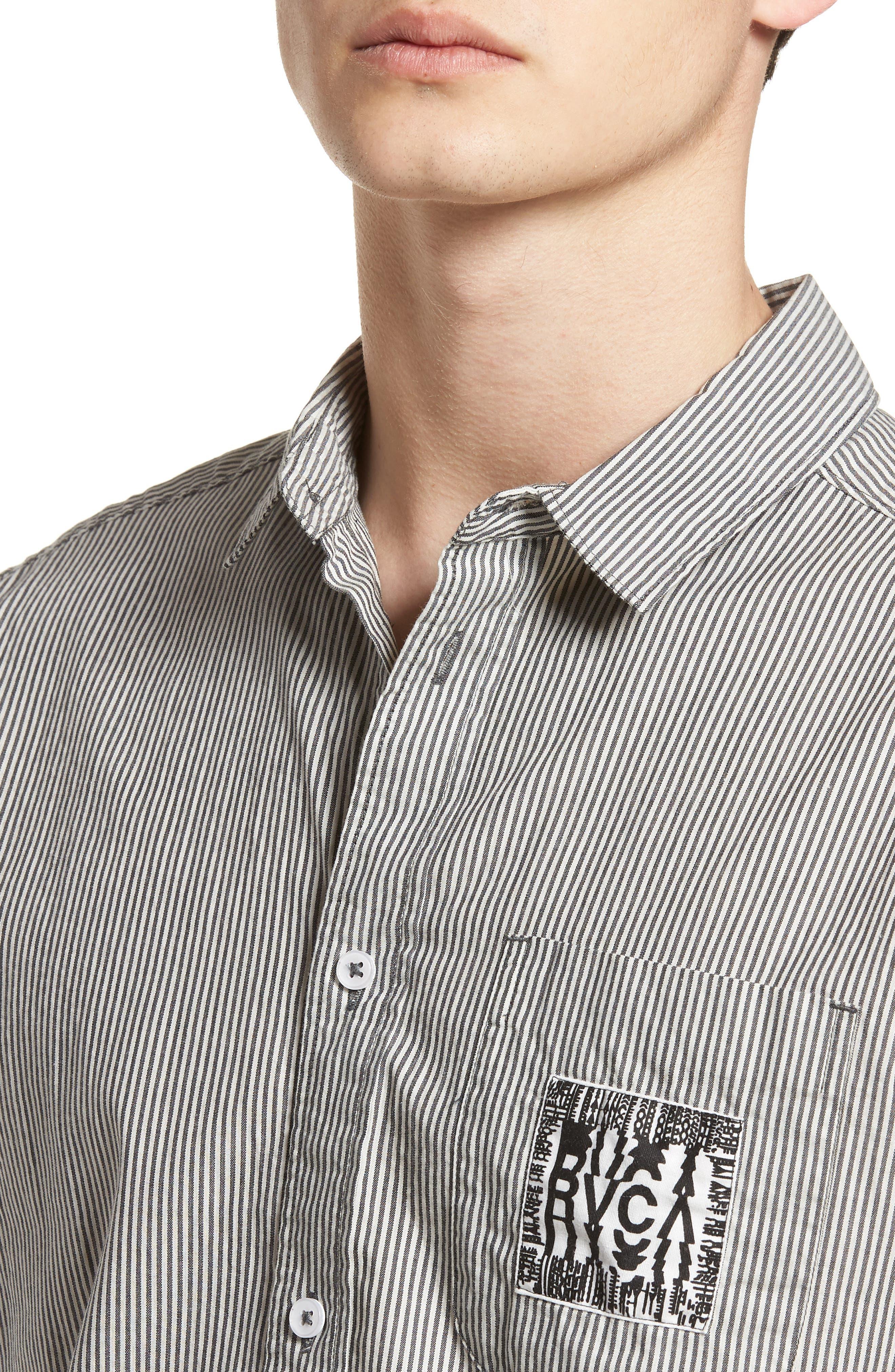 resort Disruption Woven Shirt,                             Alternate thumbnail 4, color,                             001