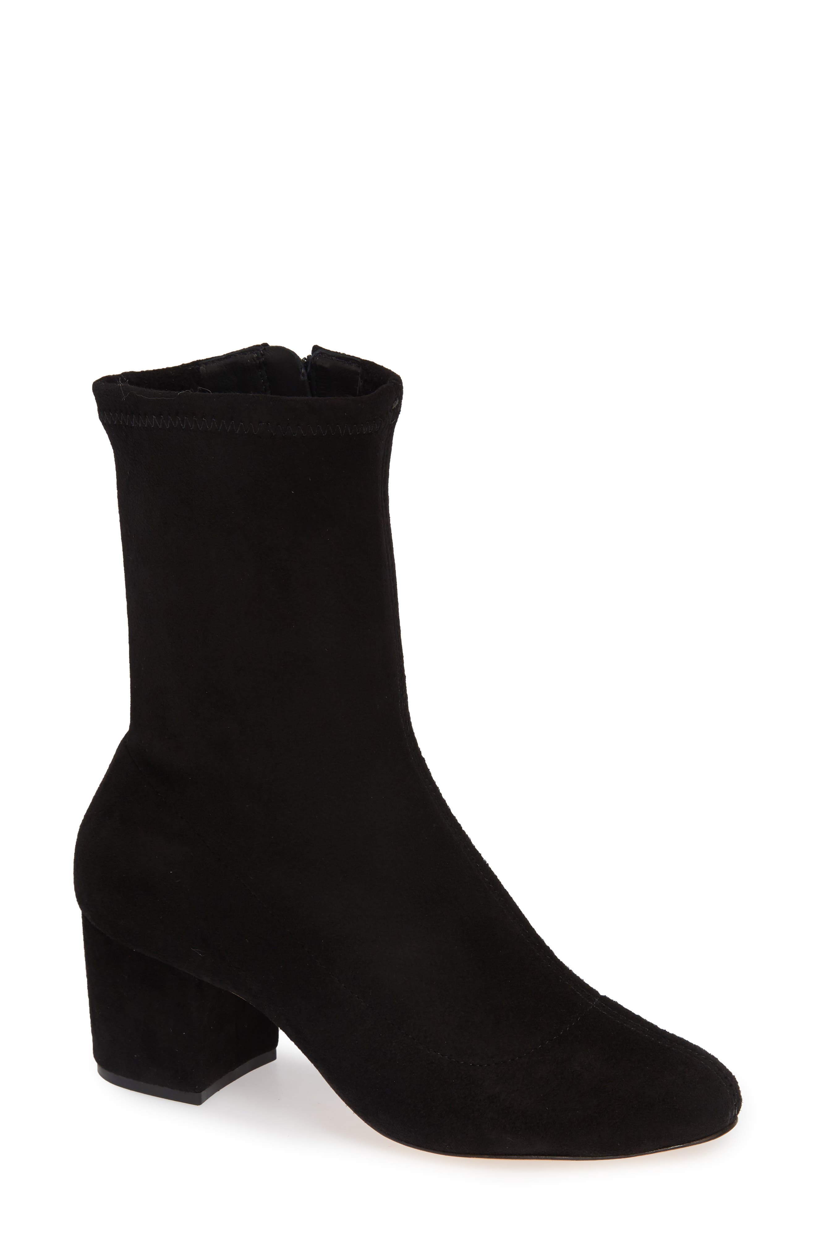 SCHUTZ Lupe Stretch Bootie, Main, color, 001