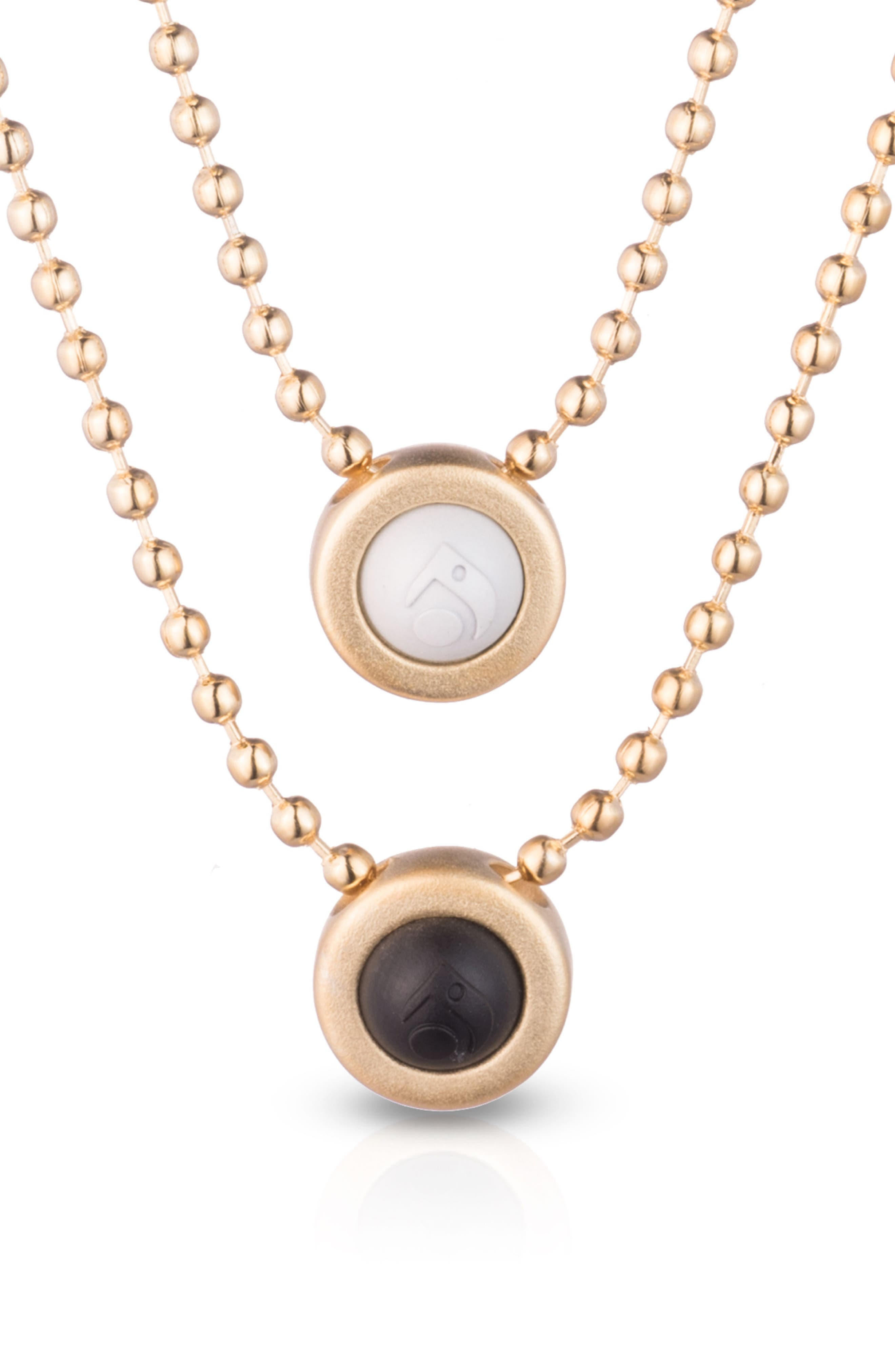 Double Ball Chain Pendant Necklace,                             Alternate thumbnail 6, color,