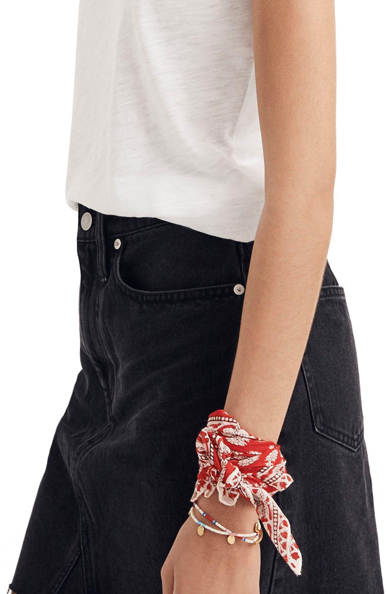 Frisco Denim Miniskirt,                             Alternate thumbnail 3, color,                             001