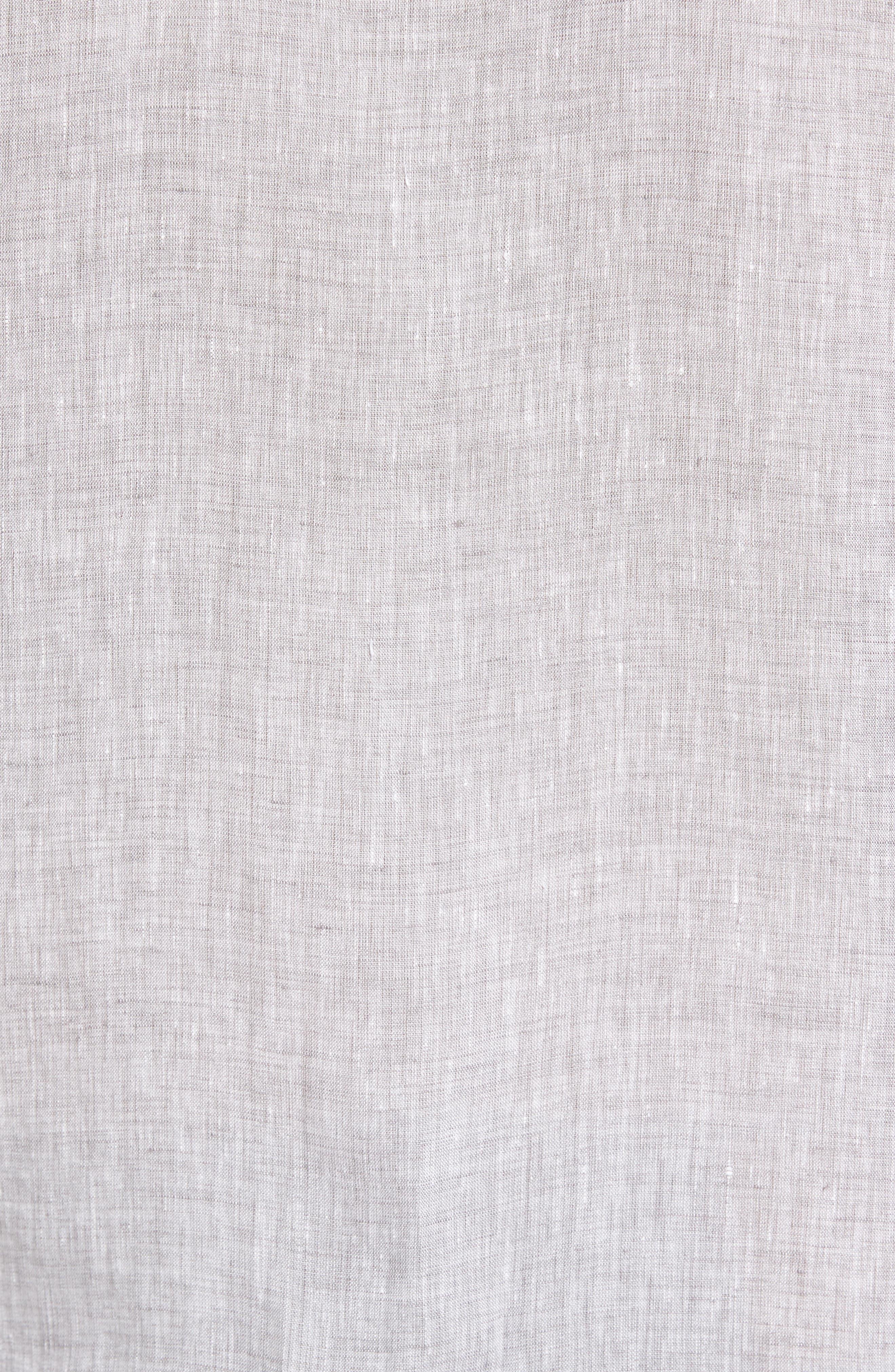 Kaplan Slim Fit Linen Sport Shirt,                             Alternate thumbnail 5, color,                             020