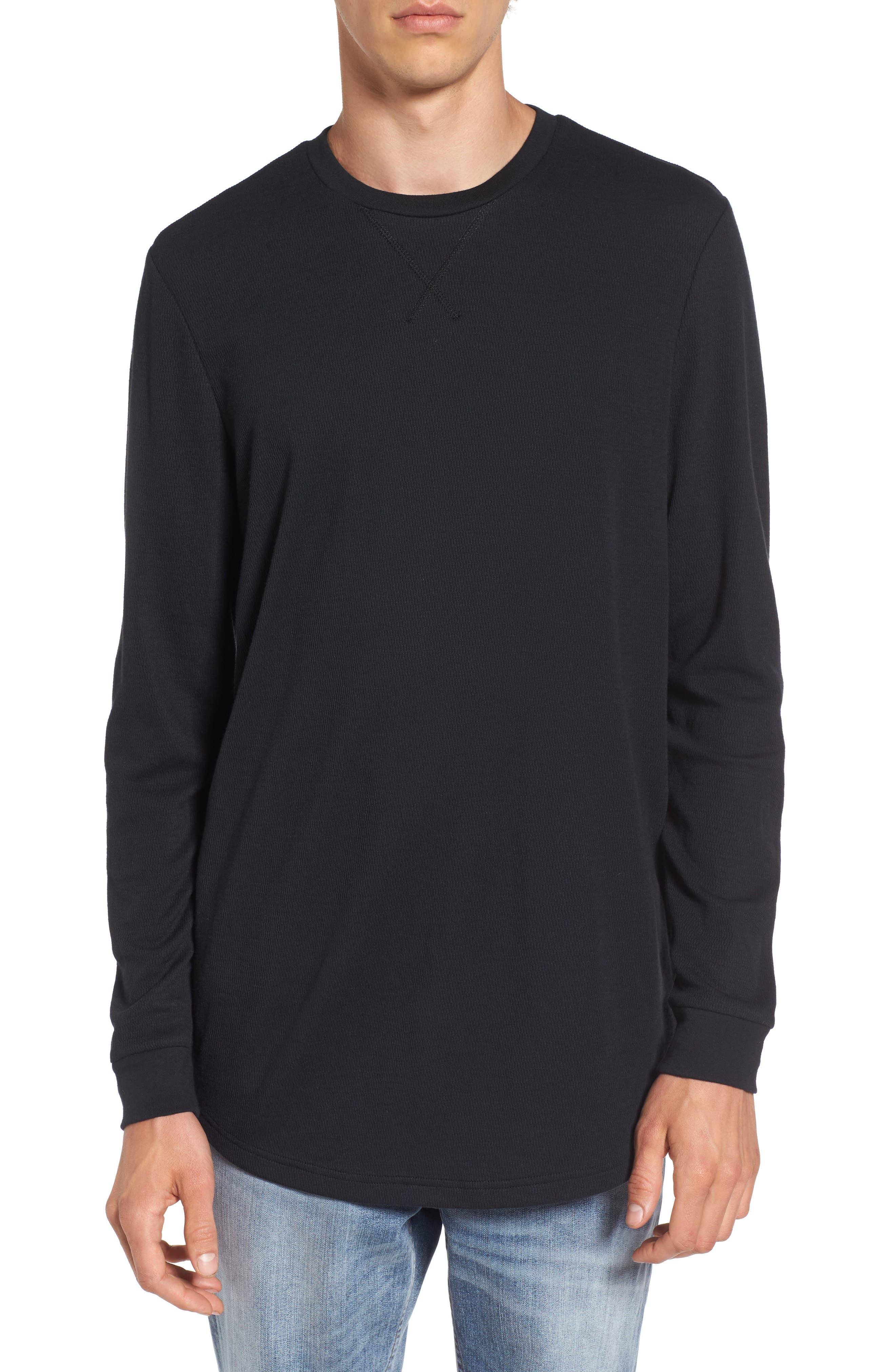 Longline Thermal T-Shirt,                             Main thumbnail 1, color,
