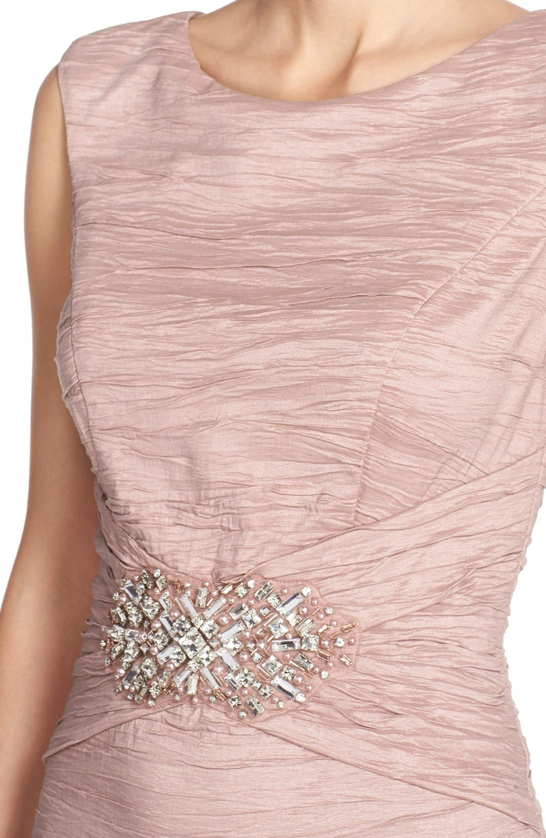 Embellished Taffeta Sheath Dress,                             Alternate thumbnail 18, color,