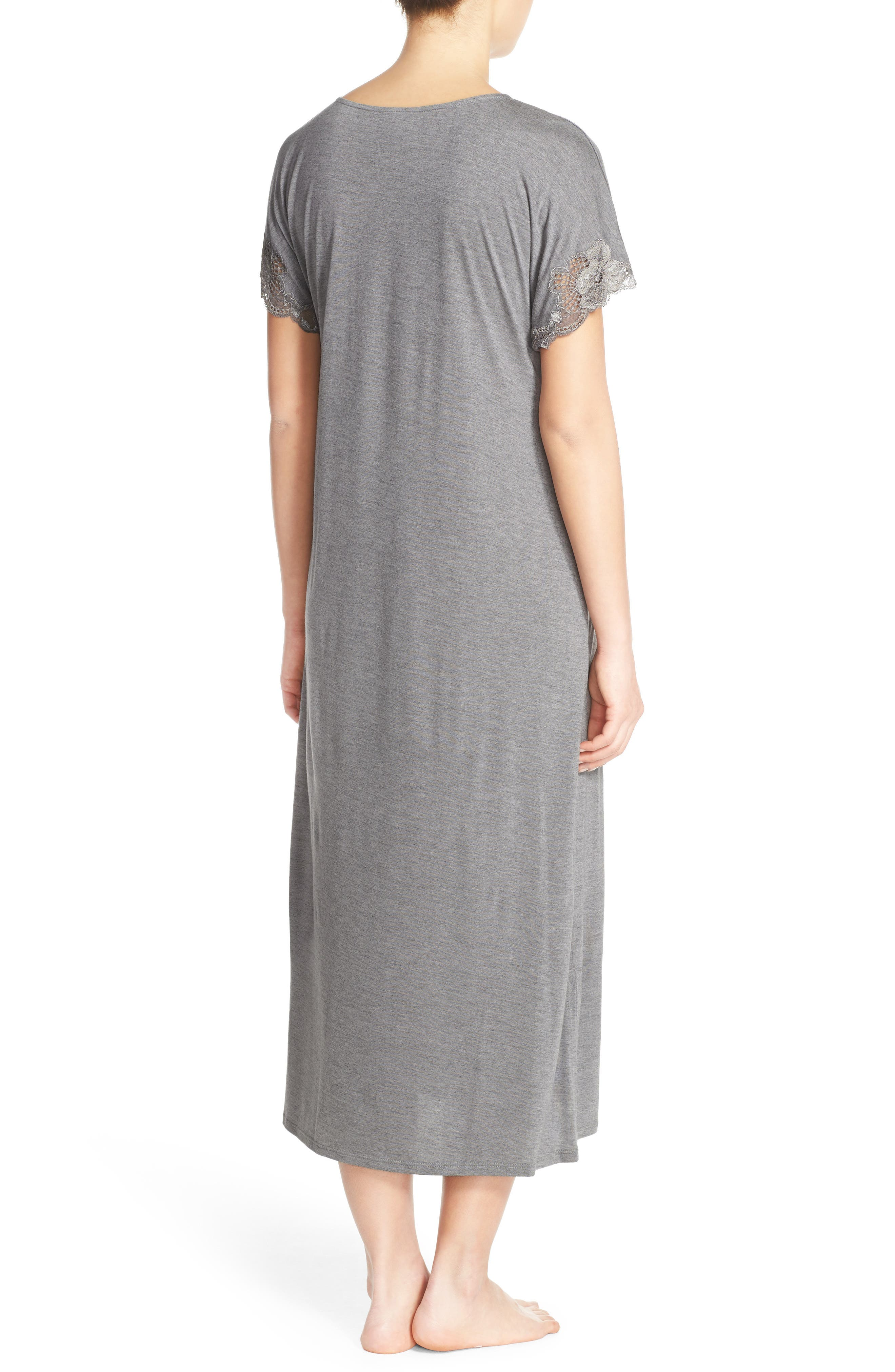 'Zen' Short Sleeve Nightgown,                             Alternate thumbnail 4, color,