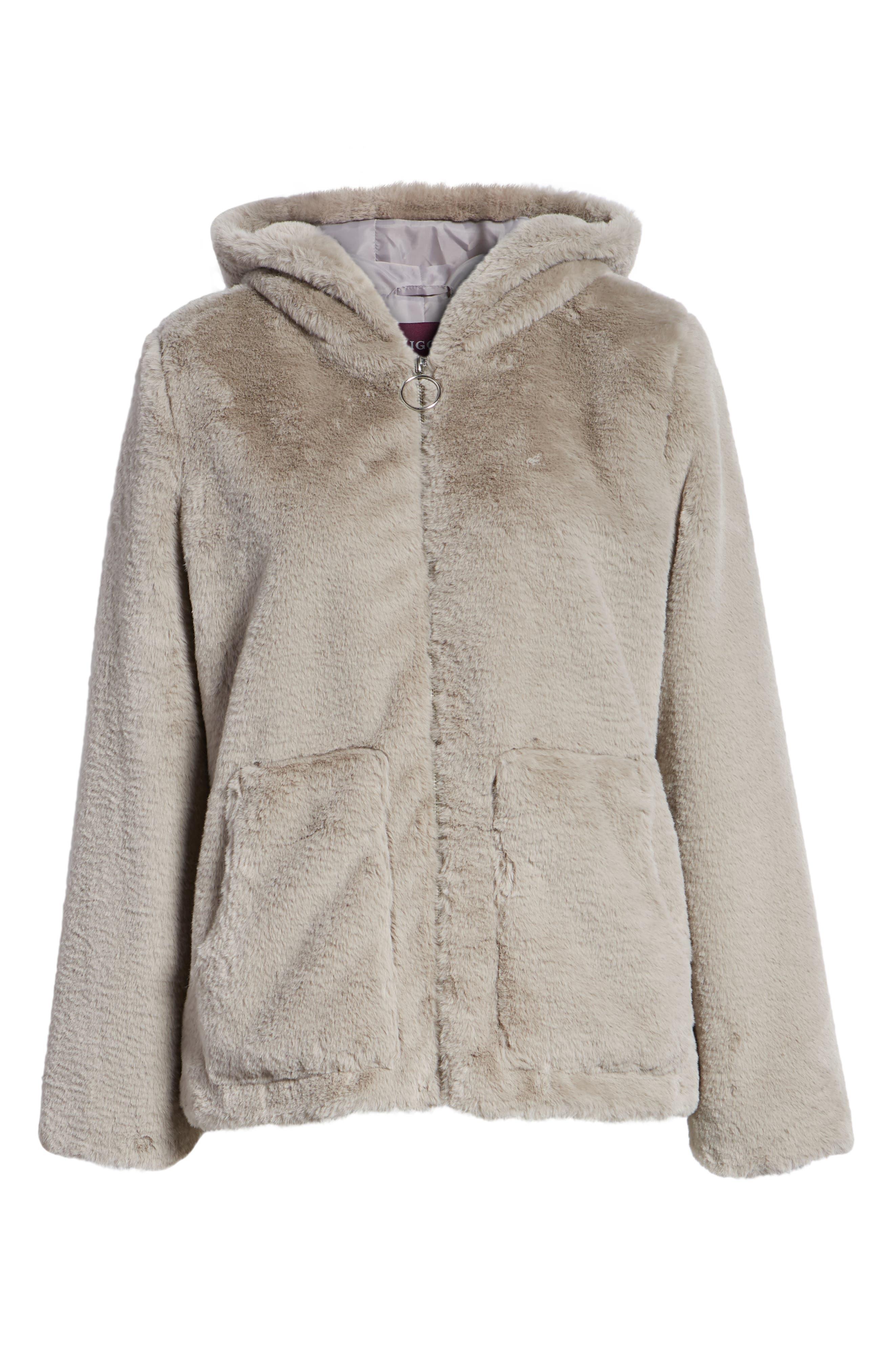 VIGOSS,                             Faux Fur O-Ring Jacket,                             Alternate thumbnail 6, color,                             020