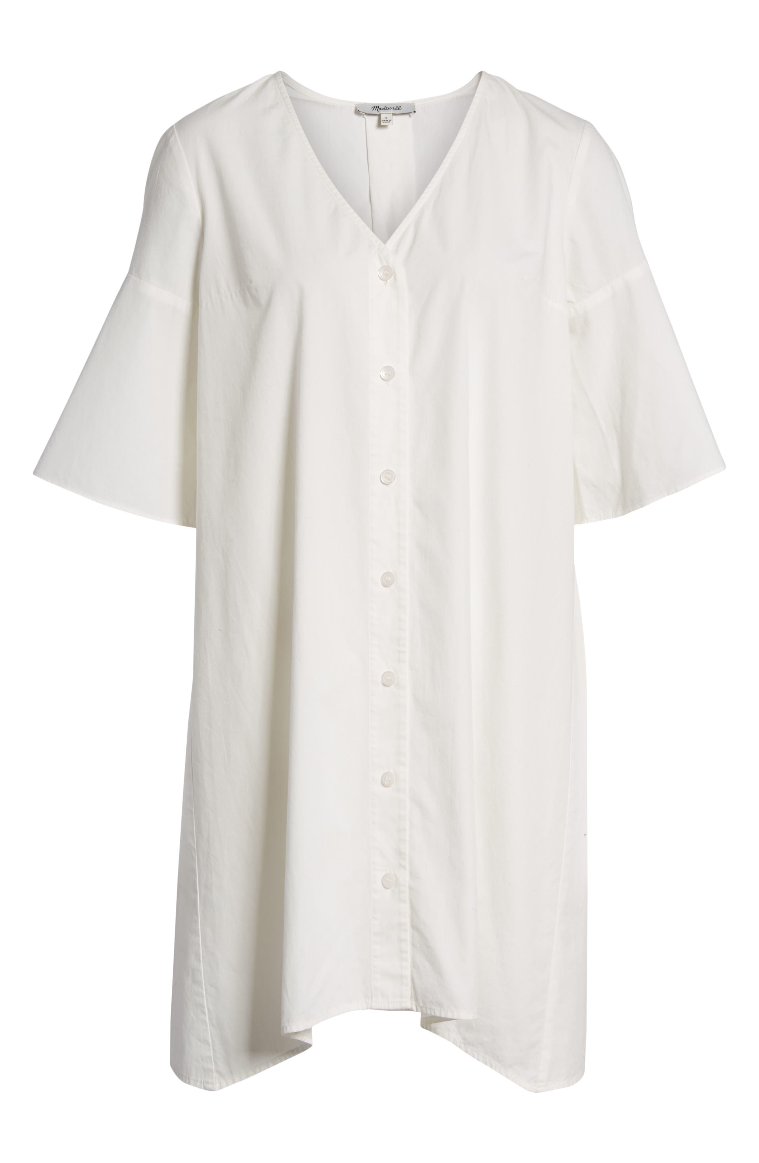 Bell Sleeve Shift Dress,                             Alternate thumbnail 8, color,                             100