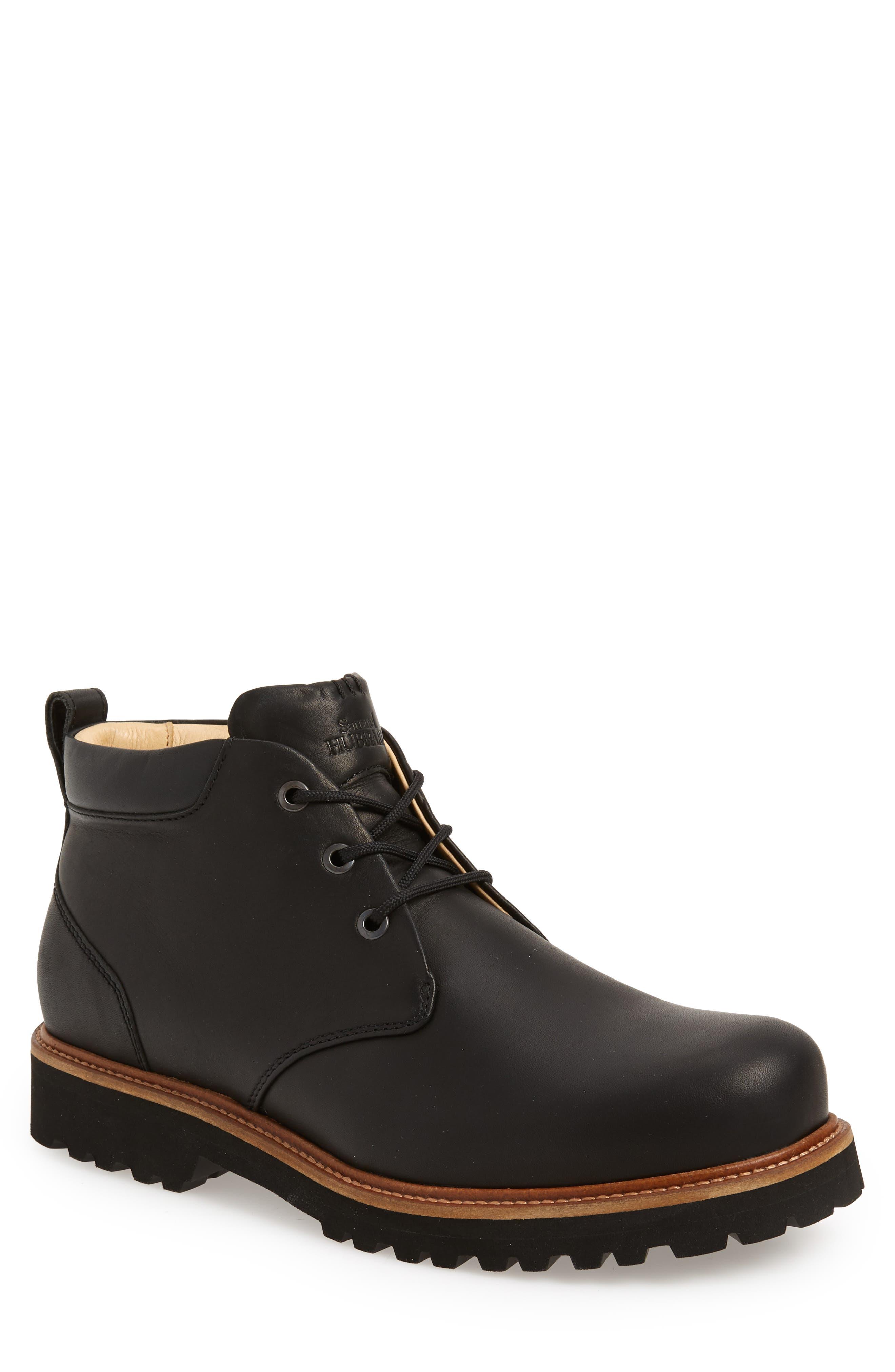 Northcoast Chukka Boot,                         Main,                         color, BLACK LEATHER