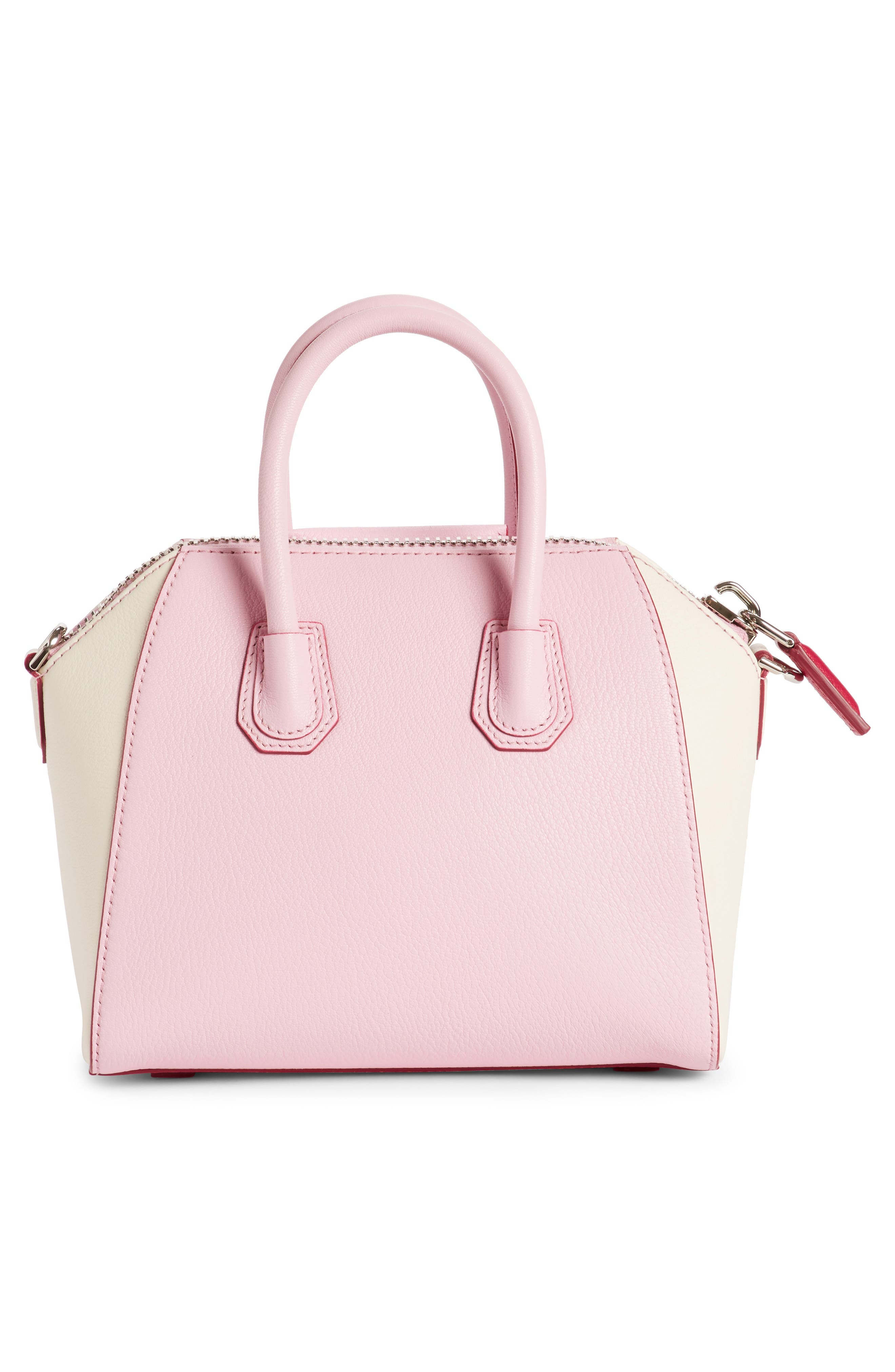 Mini Antigona Bicolor Sugar Leather Satchel,                             Alternate thumbnail 4, color,
