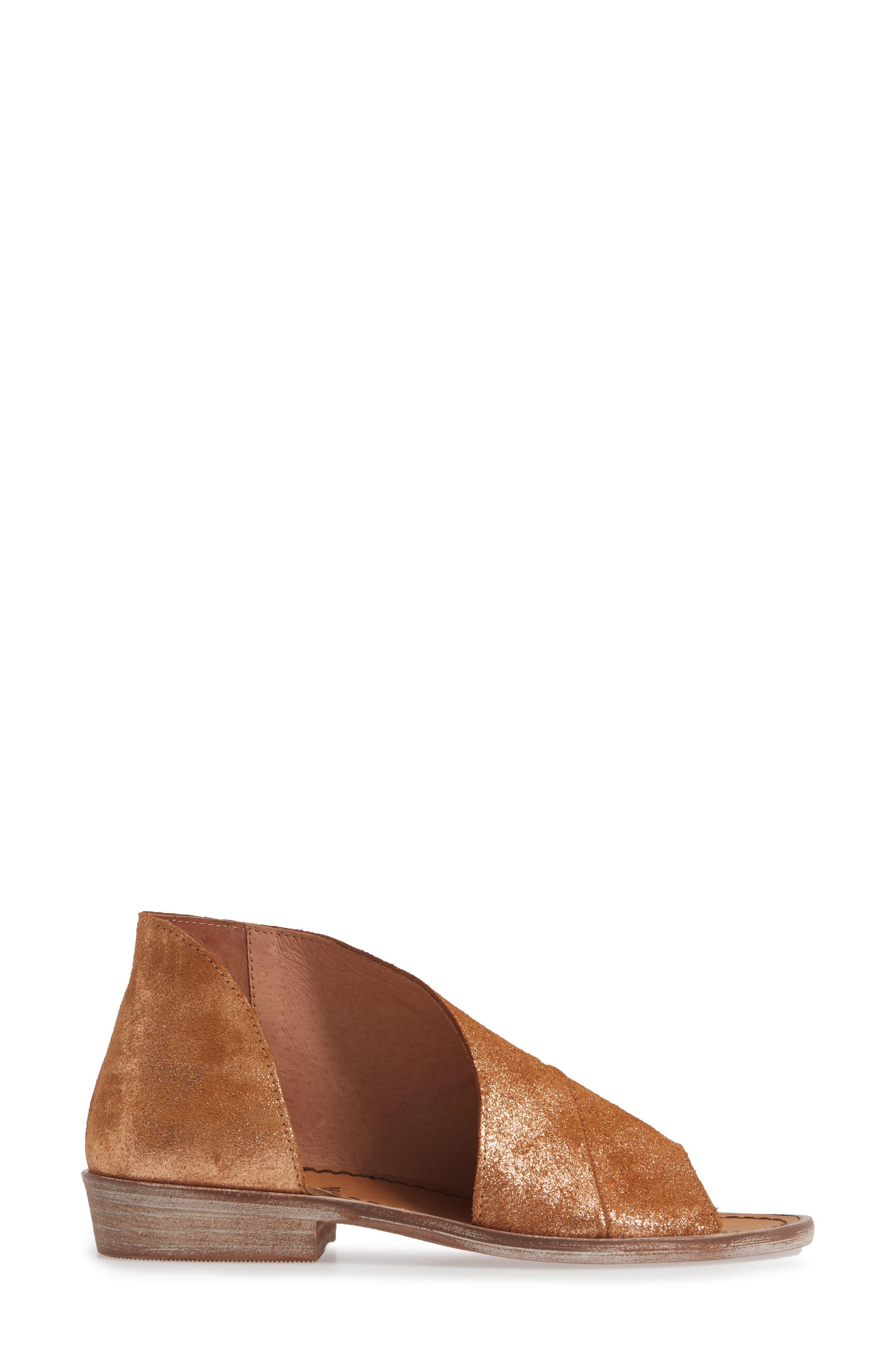 FREE PEOPLE,                             'Mont Blanc' Asymmetrical Sandal,                             Alternate thumbnail 3, color,                             ROSE