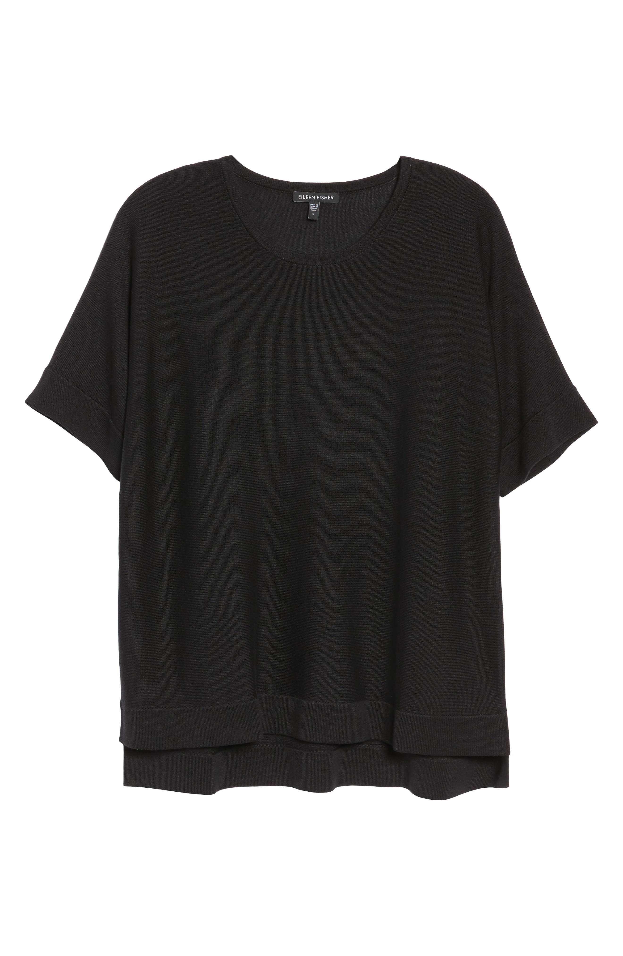 Round Neck Top,                             Alternate thumbnail 7, color,                             001