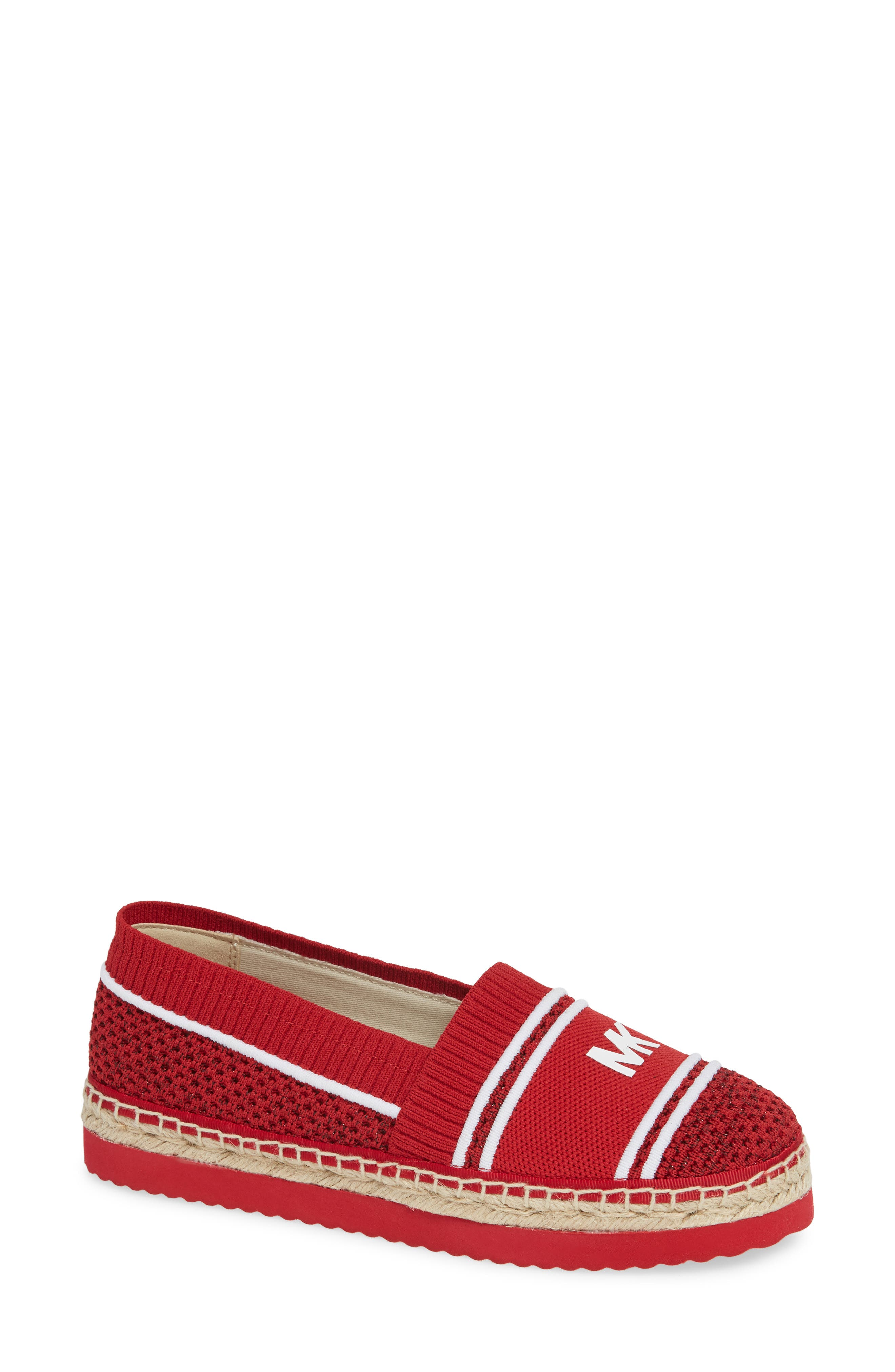 Raya Espadrille in Red Fabric