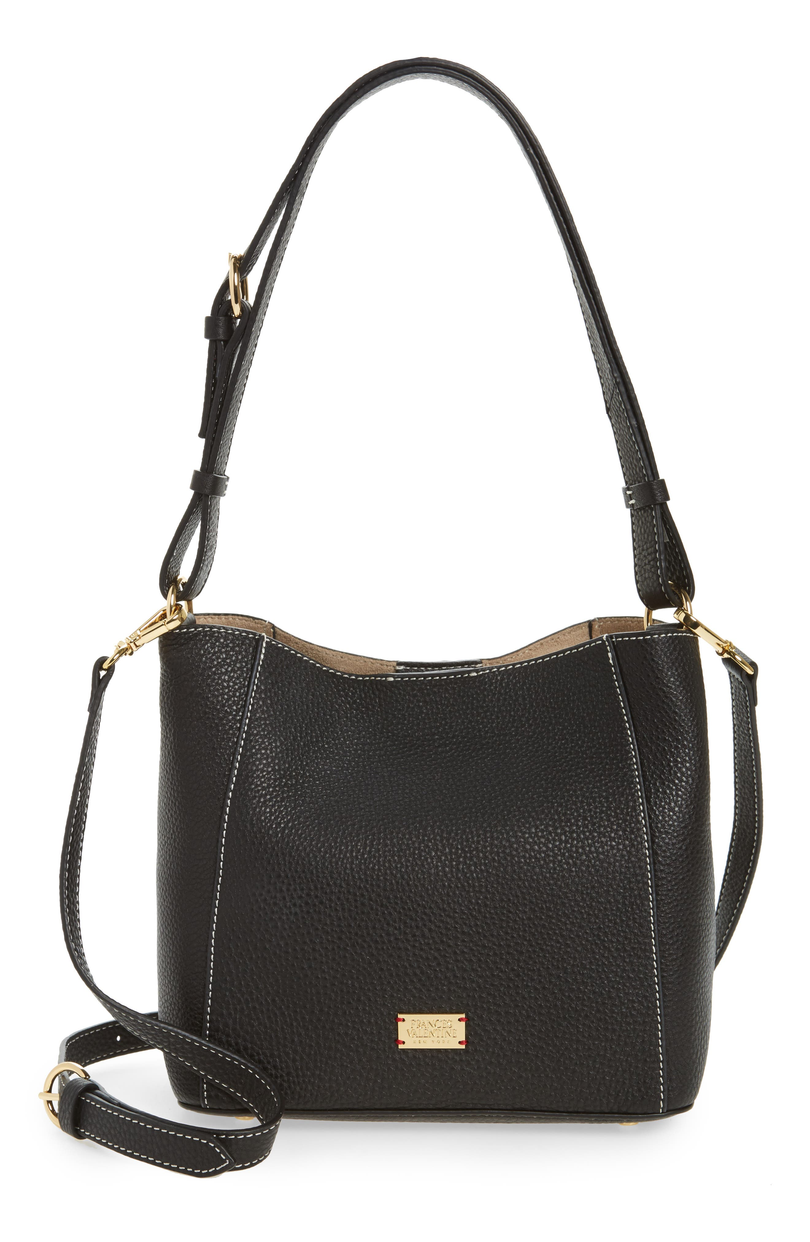 Small June Leather Hobo,                         Main,                         color, 001