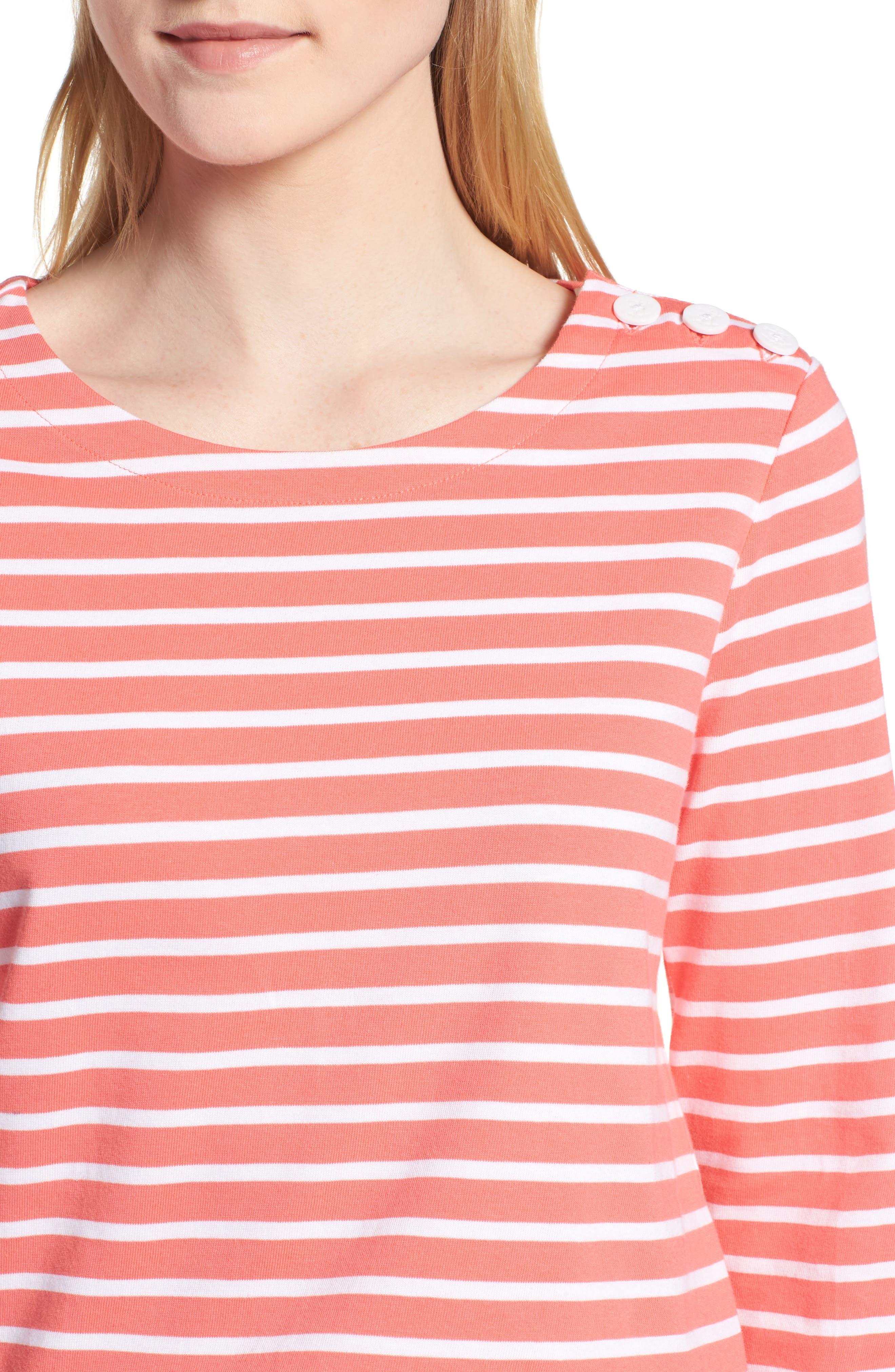 Shoulder Button Cotton Top,                             Alternate thumbnail 4, color,                             958