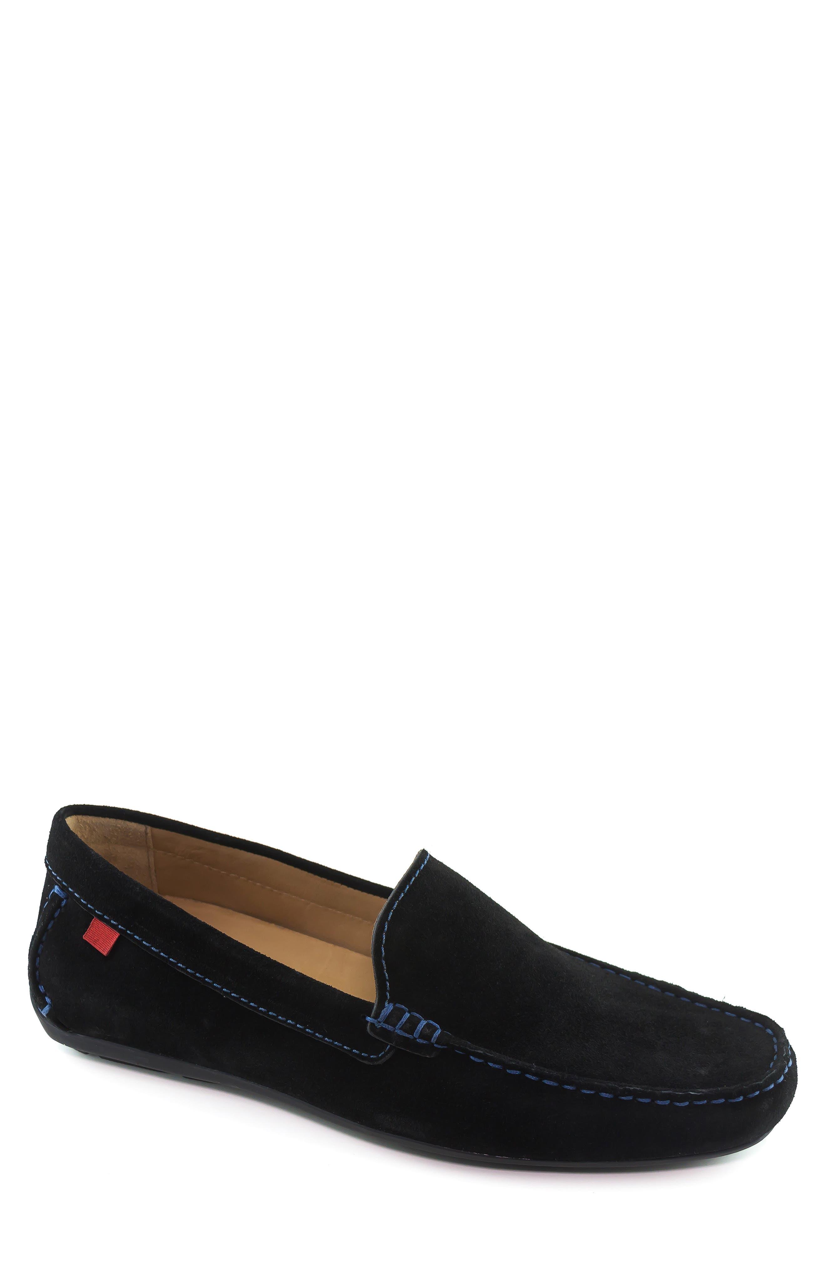 'Broadway' Driving Shoe,                         Main,                         color, BLACK SUEDE