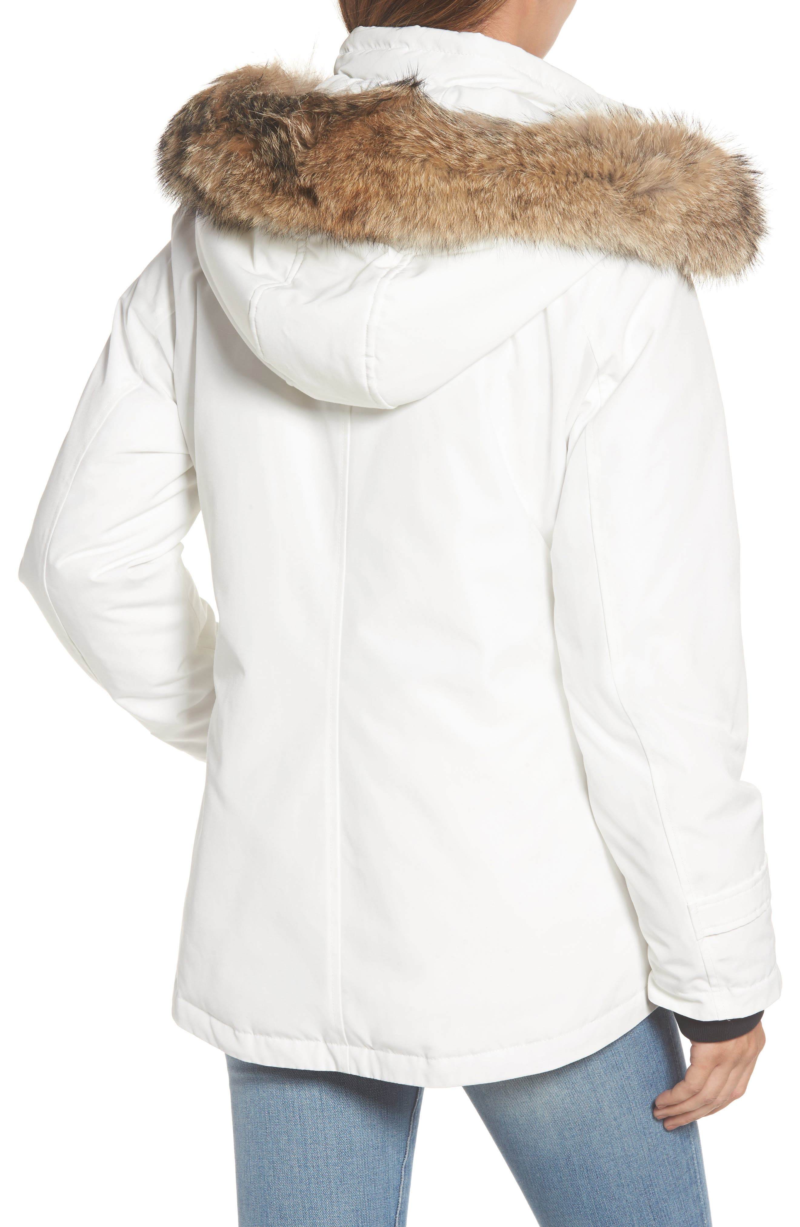 Bachelor Water Repellent Hooded Down Parka with Genuine Coyote Fur Trim,                             Alternate thumbnail 6, color,