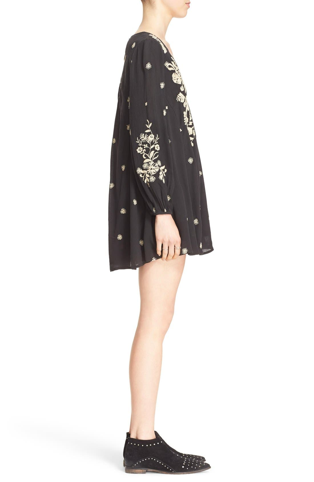 'Sweet Tennessee' Embroidered Minidress,                             Alternate thumbnail 3, color,                             019