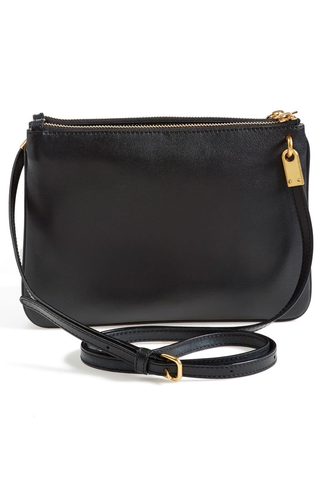 MARC JACOBS,                             MARC BY MARC JACOBS 'Double Percy' Crossbody Bag,                             Alternate thumbnail 4, color,                             001