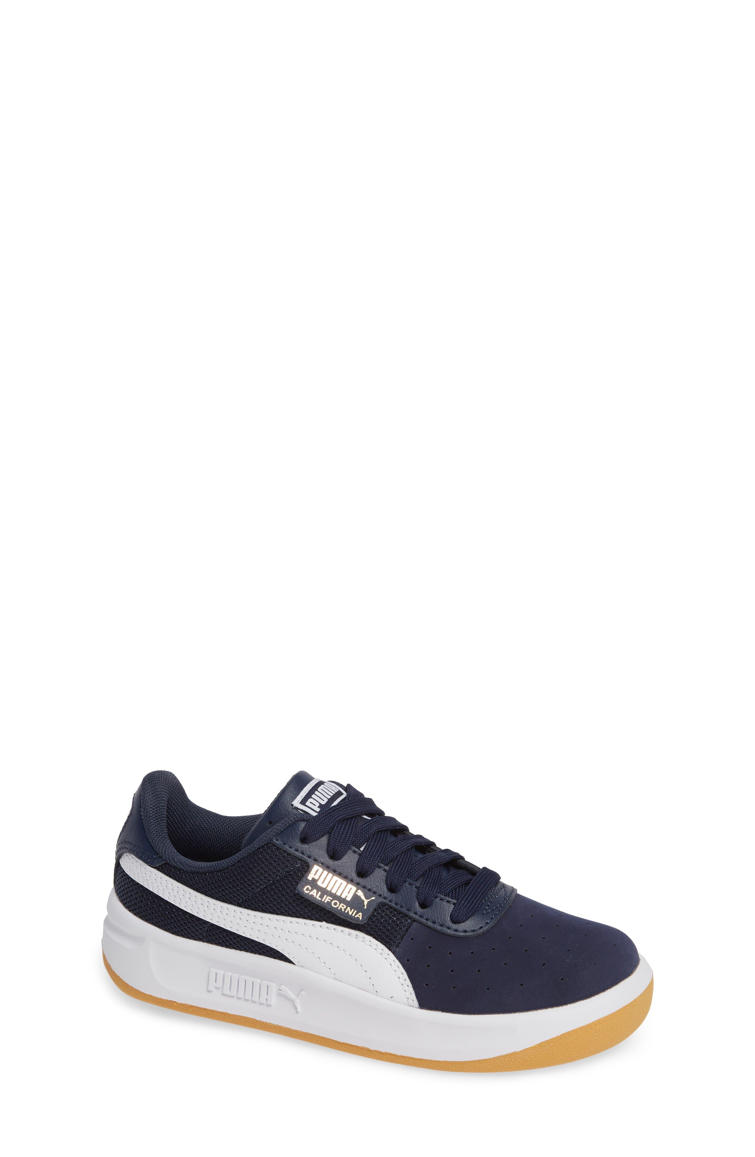 California Casual Jr. Sneaker, Main, color, PEACOAT-PUMA WHITE-GOLD