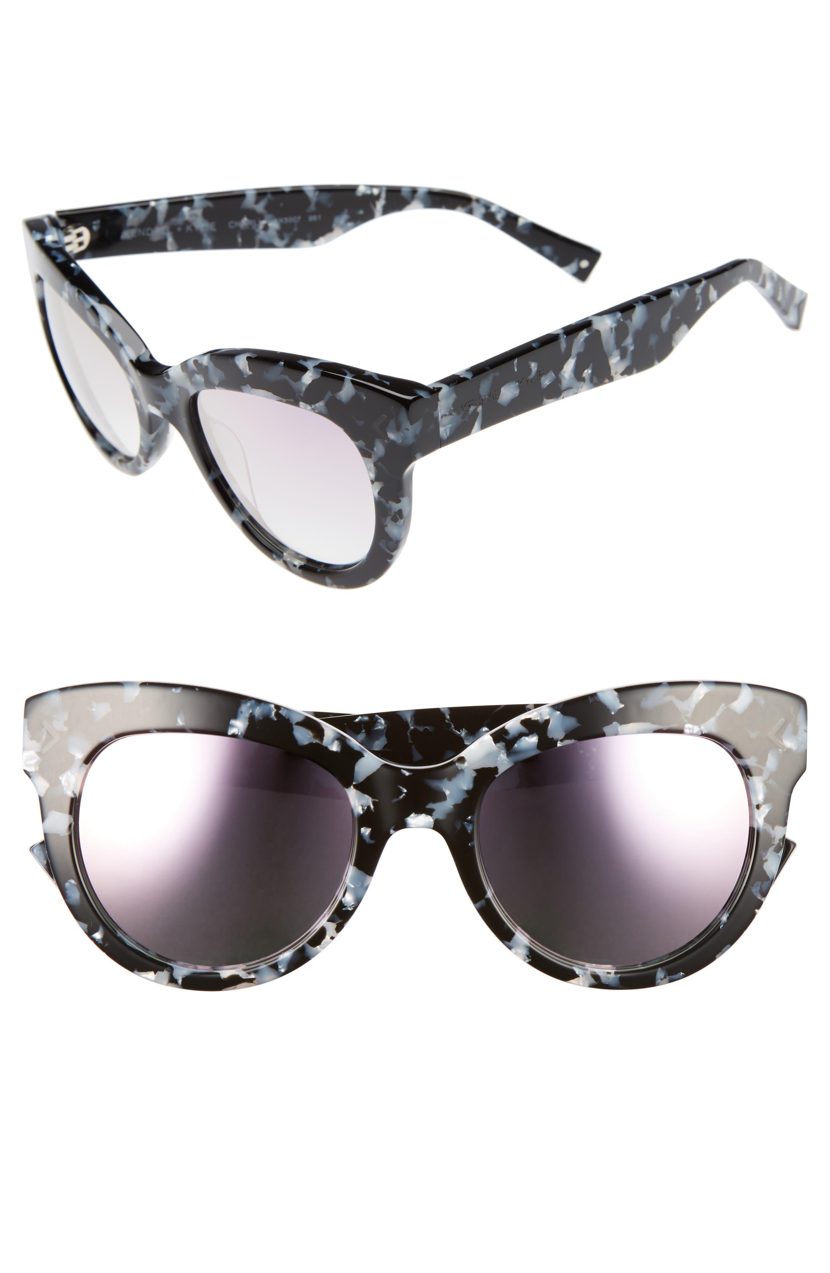 Charli 52mm Cat Eye Sunglasses,                             Main thumbnail 1, color,                             001