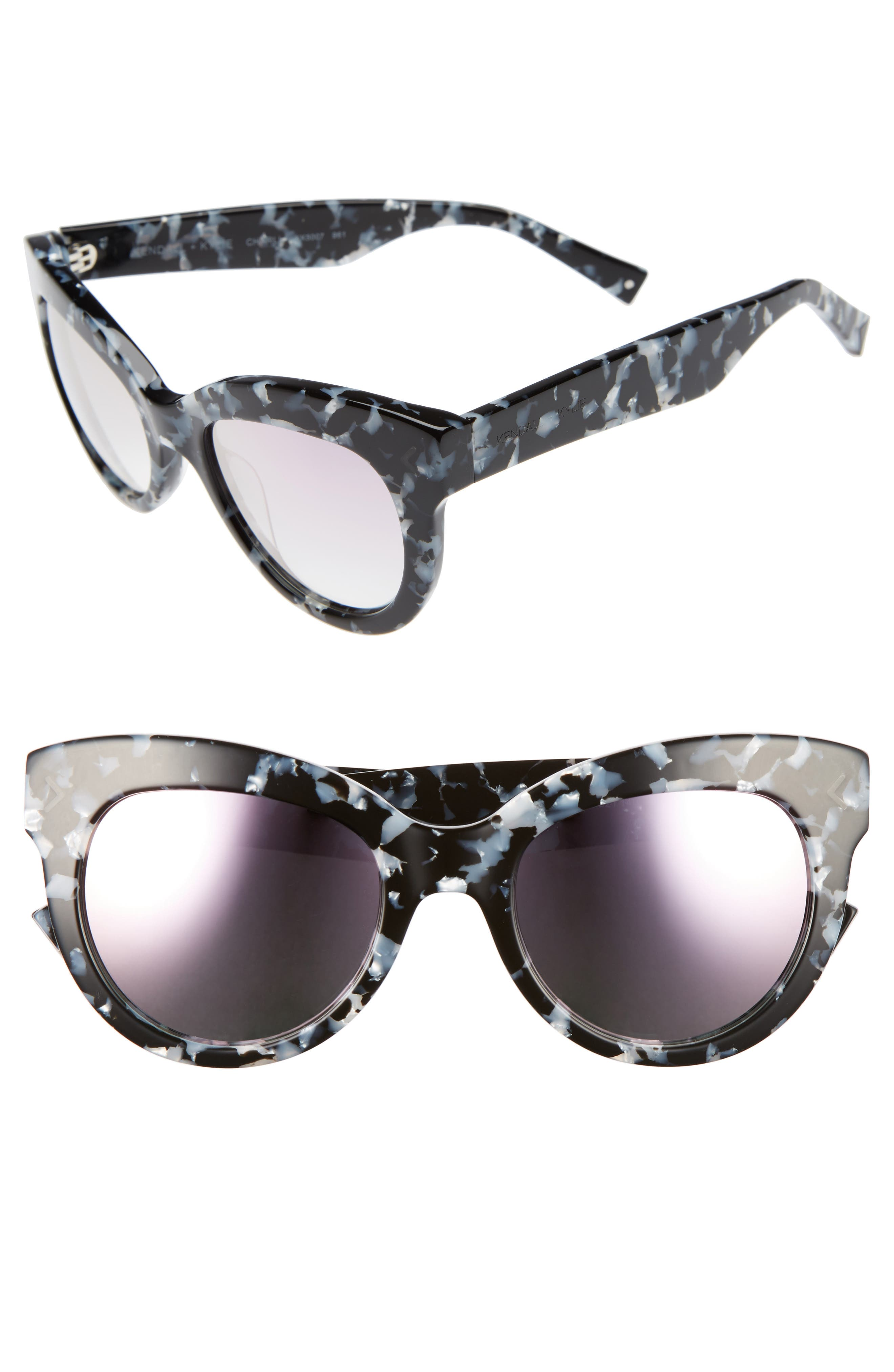 Charli 52mm Cat Eye Sunglasses,                         Main,                         color, 001