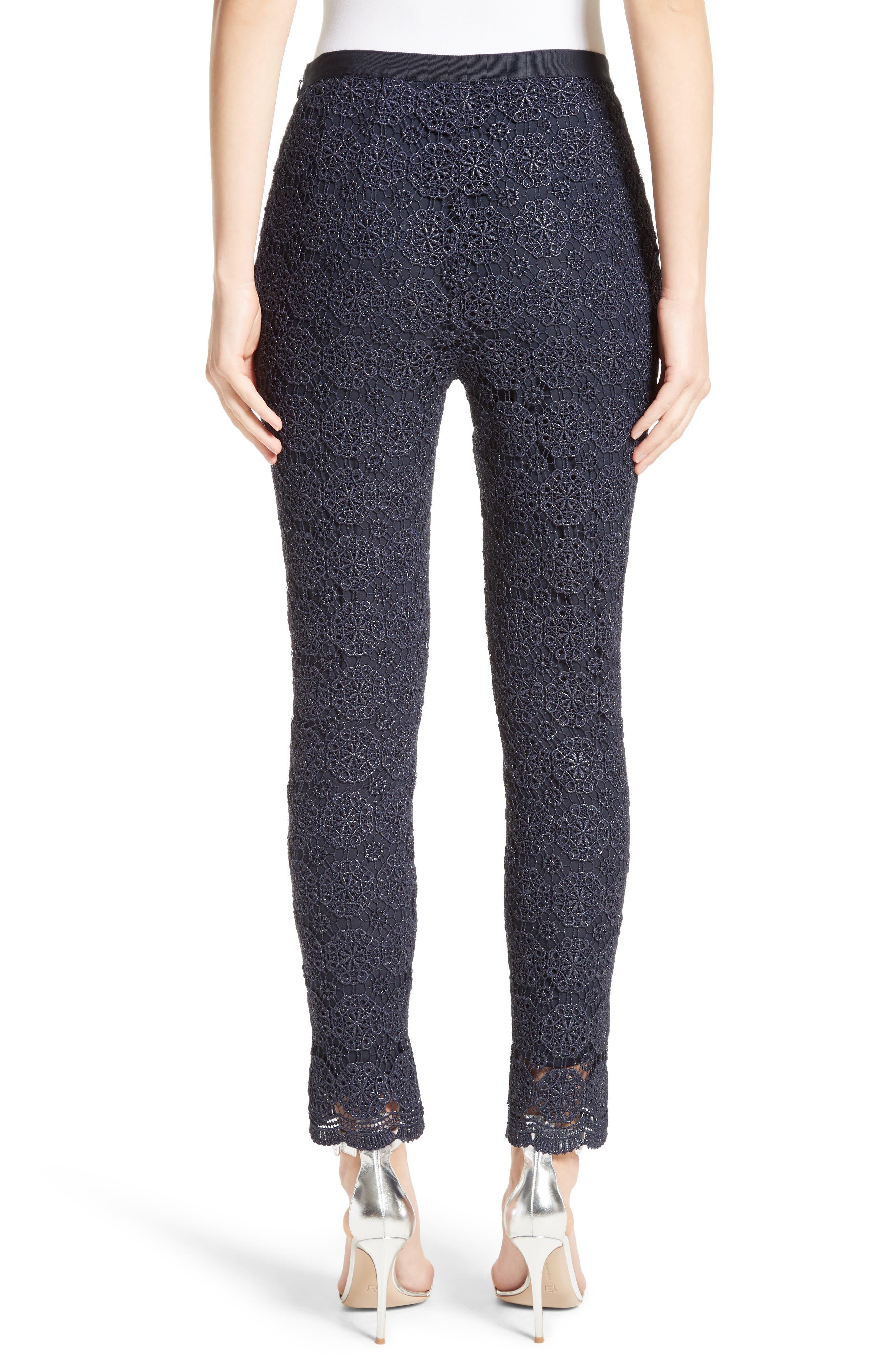 Metallic Guipure Lace Pants,                             Alternate thumbnail 2, color,                             410