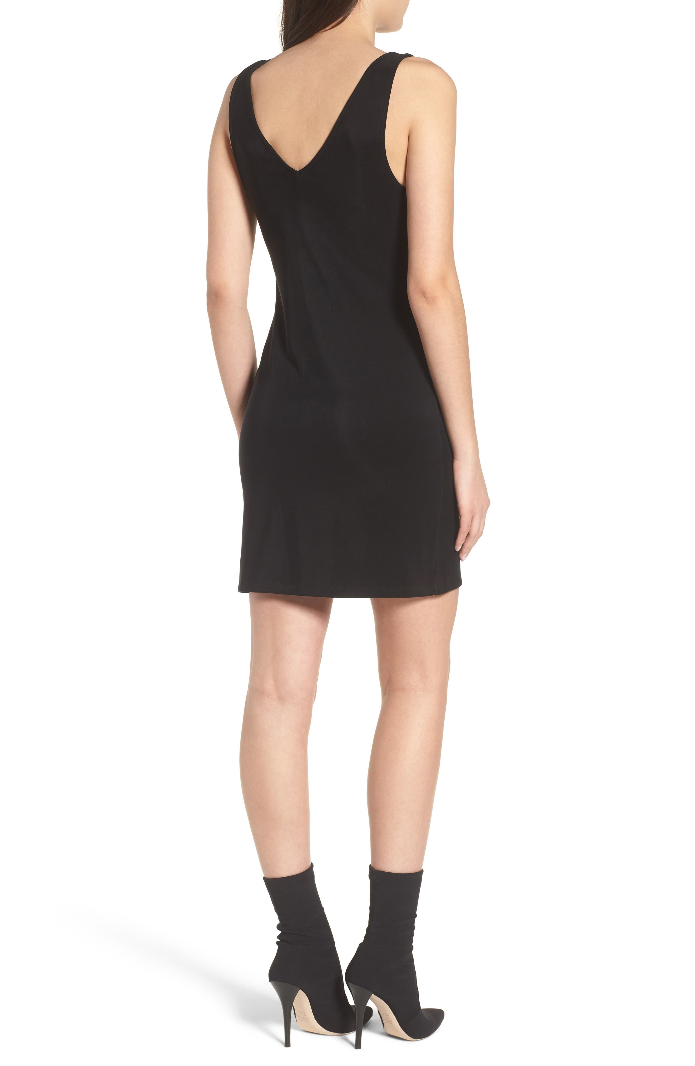 Smocked Body-Con Dress,                             Alternate thumbnail 2, color,                             001